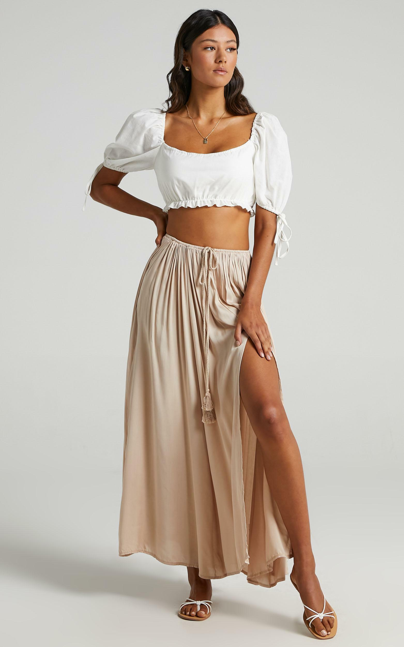 Under The Twilight Maxi Skirt in Beige - 06, BRN3, hi-res image number null