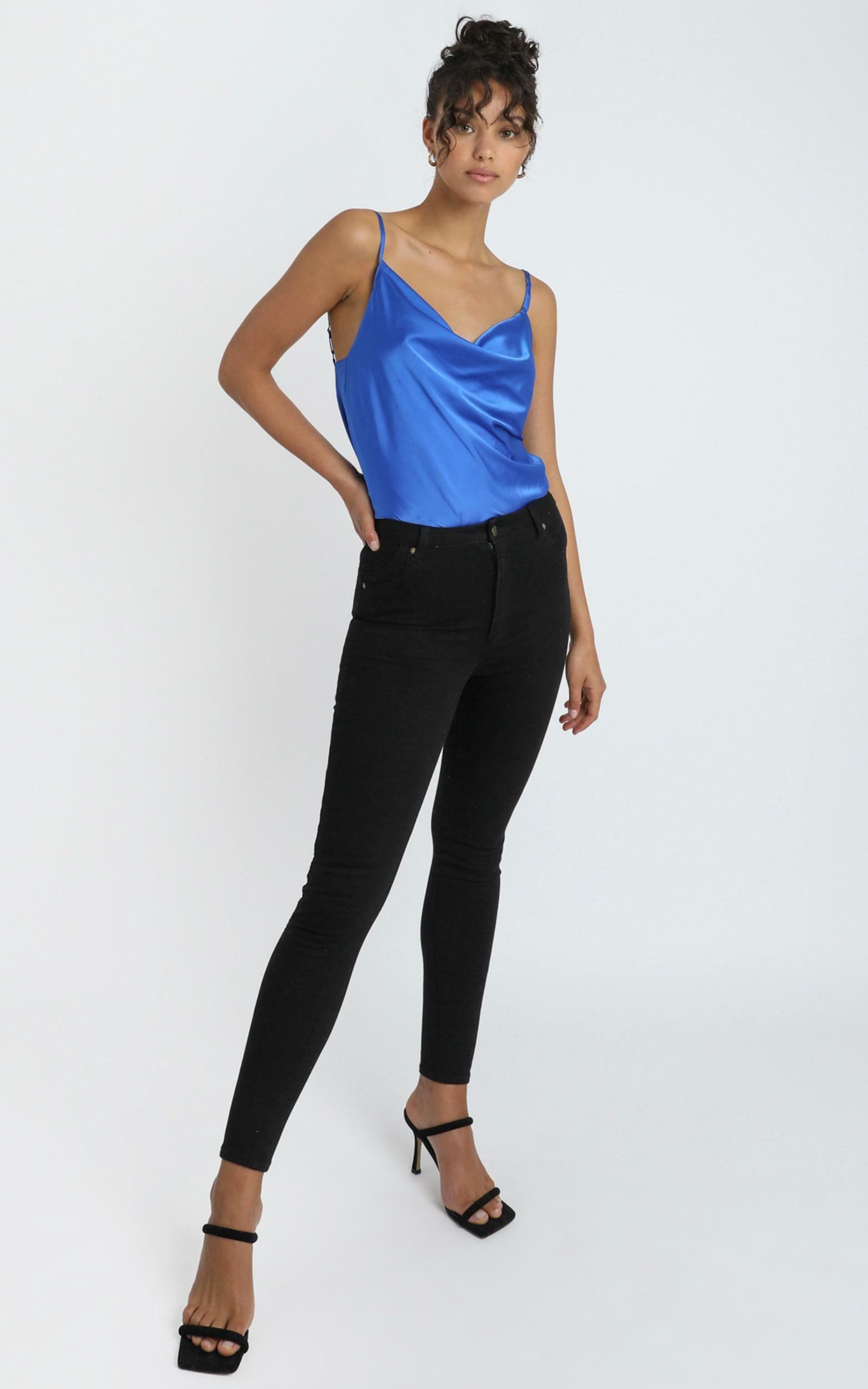 Straight Line Top in cobalt - 4 (XXS), Blue, hi-res image number null