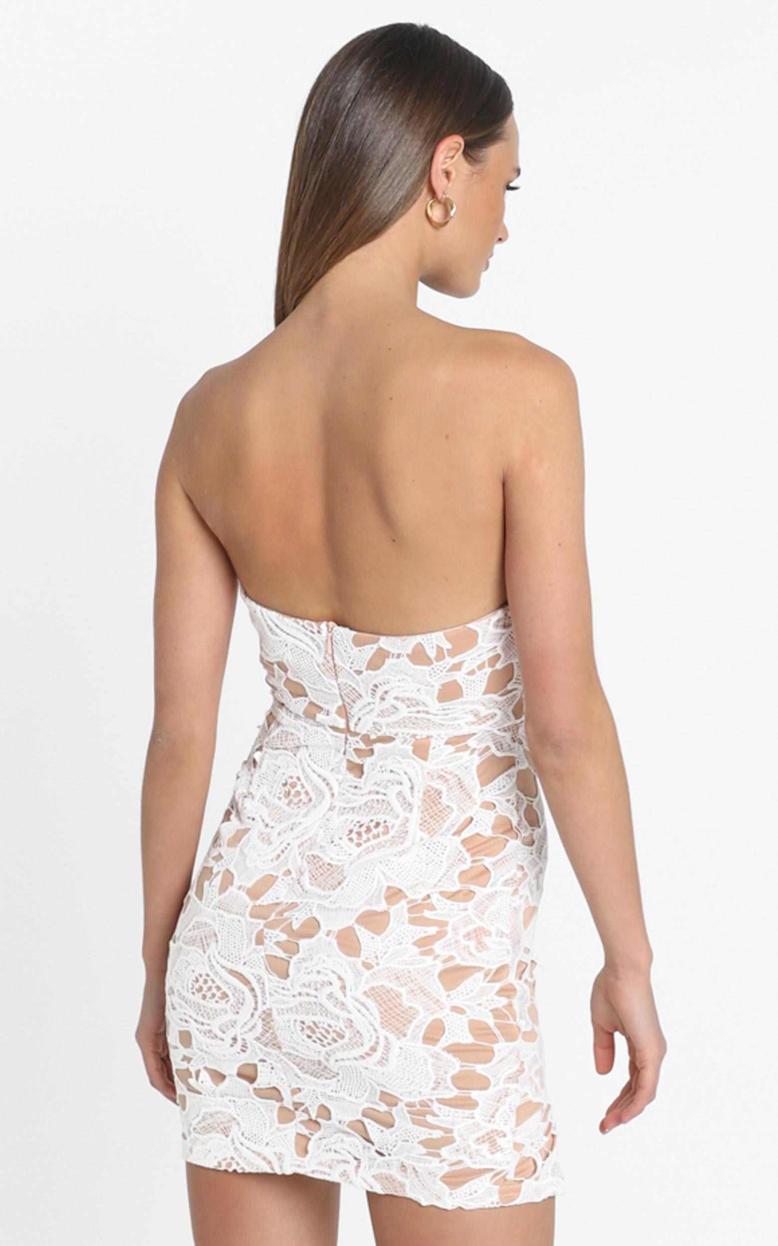 I Wont Let Go Mini Dress in white lace - 14 (XL), White, hi-res image number null