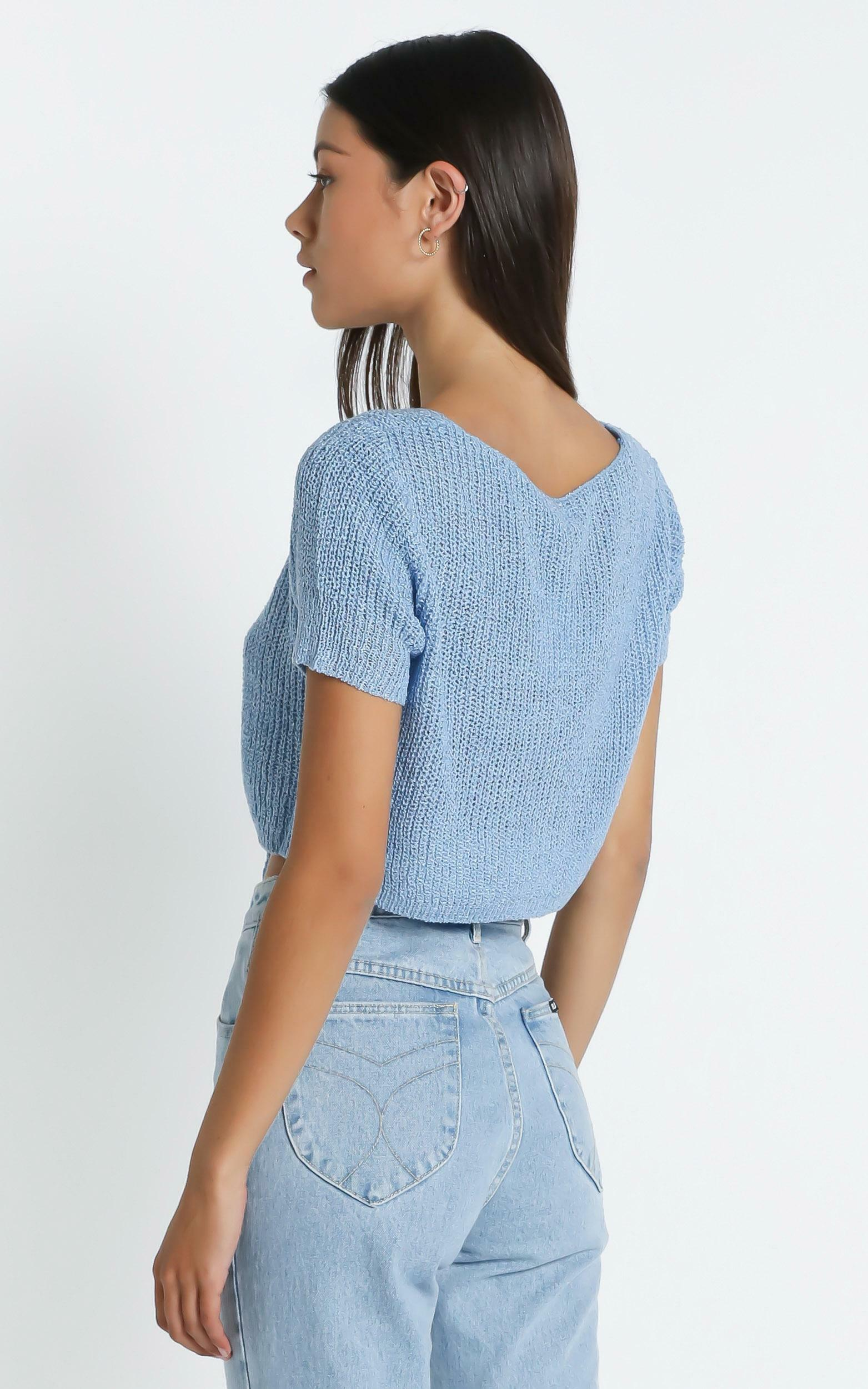 Bronxville Top in Blue - S/M, Blue, hi-res image number null