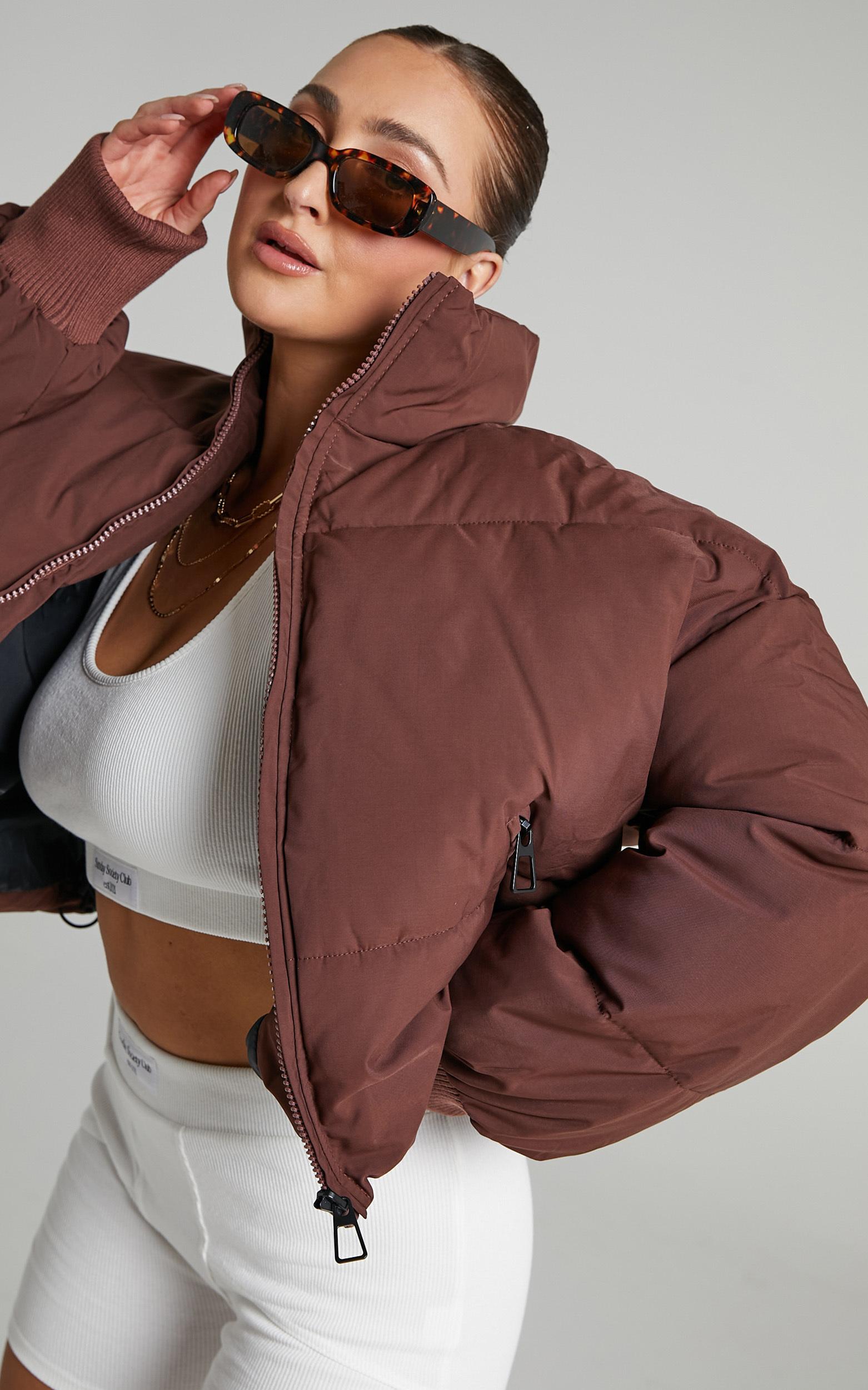 Windsor Puffer Jacket in Chocolate - 06, BRN4, hi-res image number null