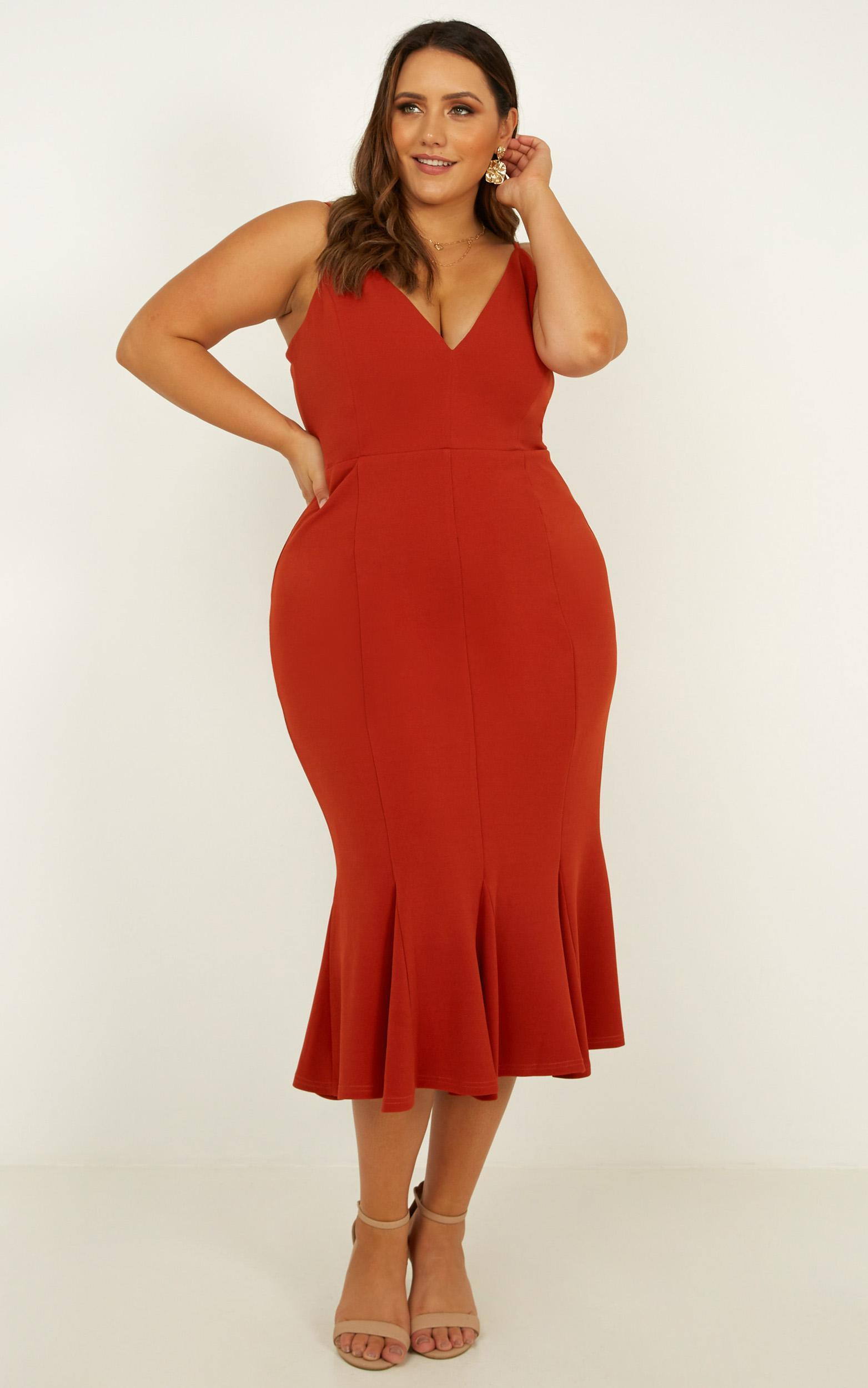 Get the girls over dress in rust - 20 (XXXXL), Rust, hi-res image number null