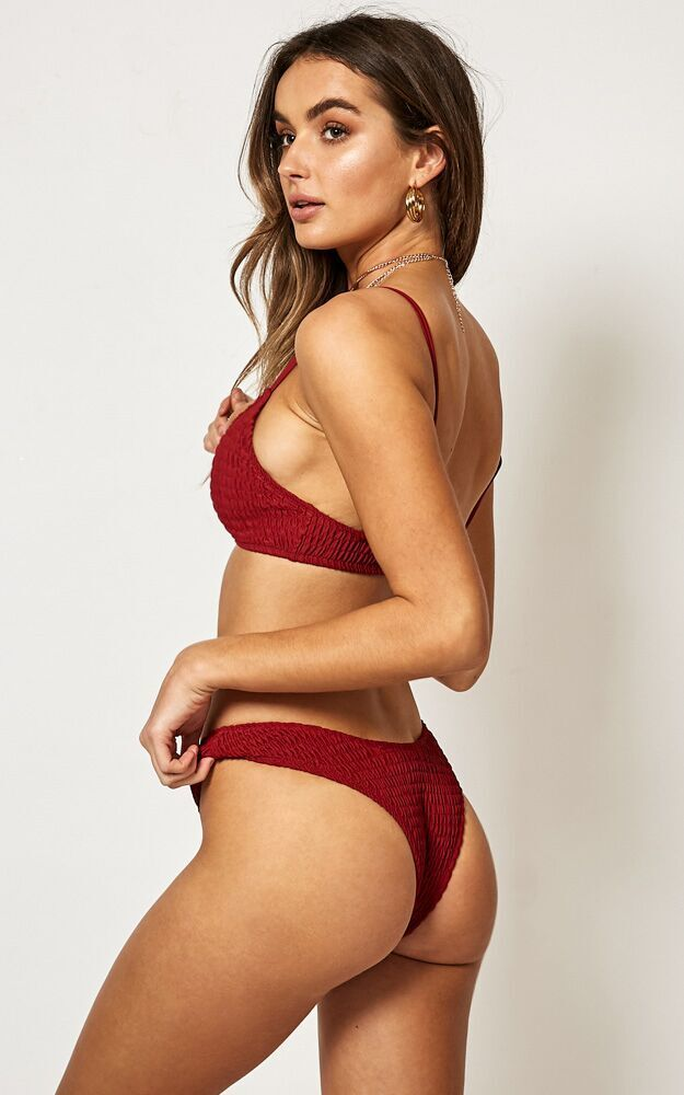 Rory Bikini Top in poppy - 20 (XXXXL), Red, hi-res image number null
