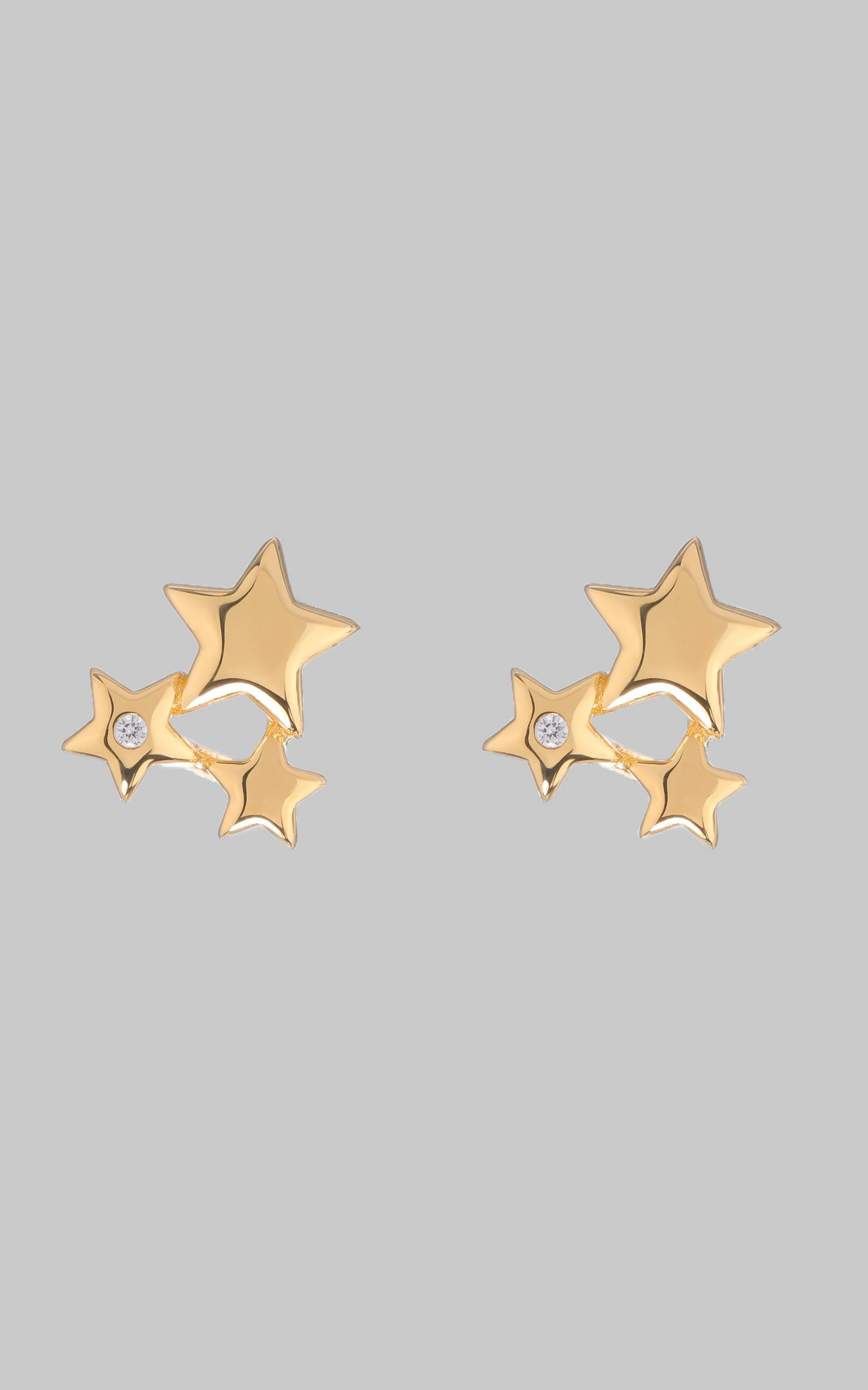 Luv AJ - Stardust Studs in Gold, , hi-res image number null