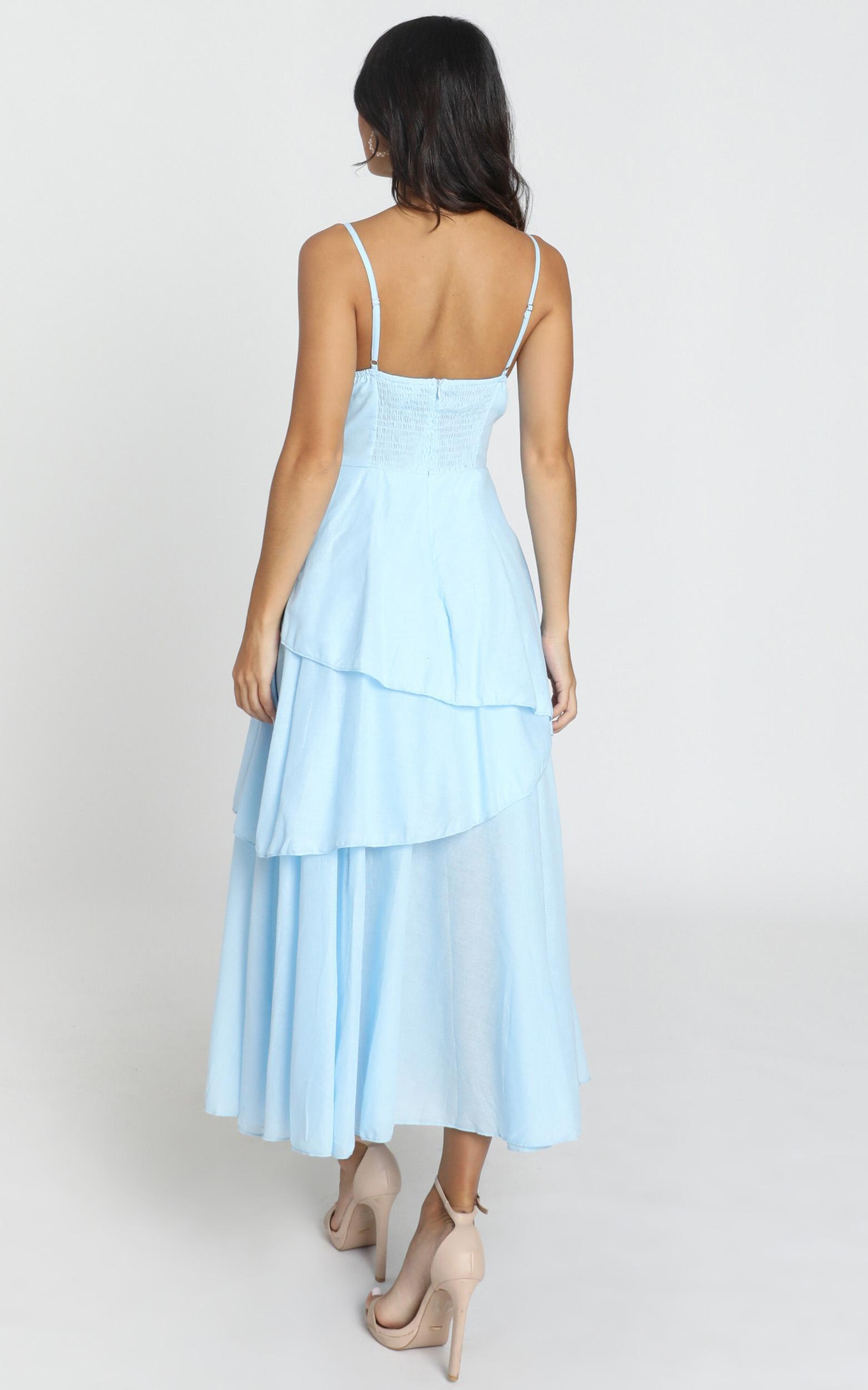 Hibiscus Dress in powder blue - 6 (XS), Blue, hi-res image number null