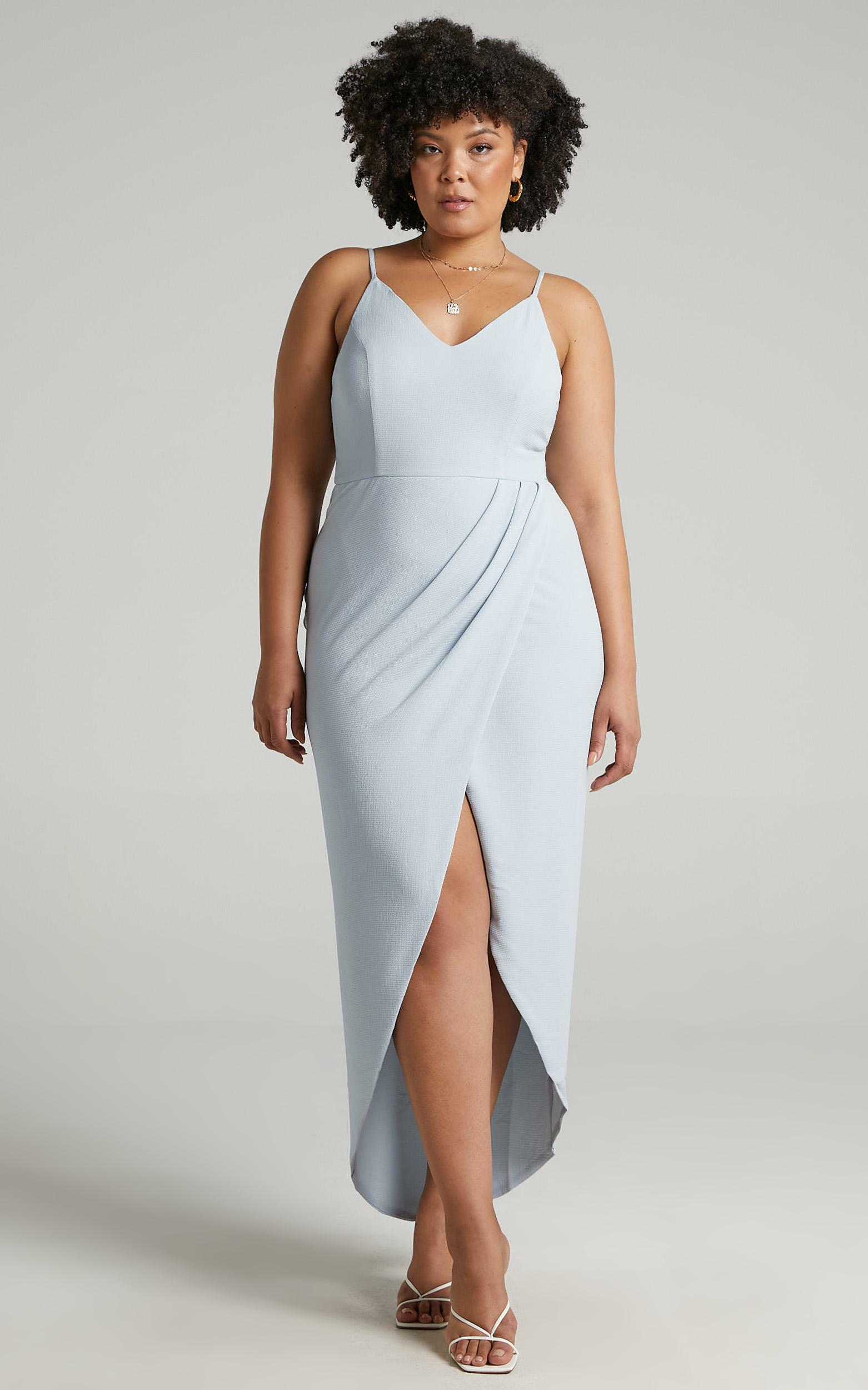 Lucky Day Drape Maxi Dress in Blue - 04, BLU2, hi-res image number null