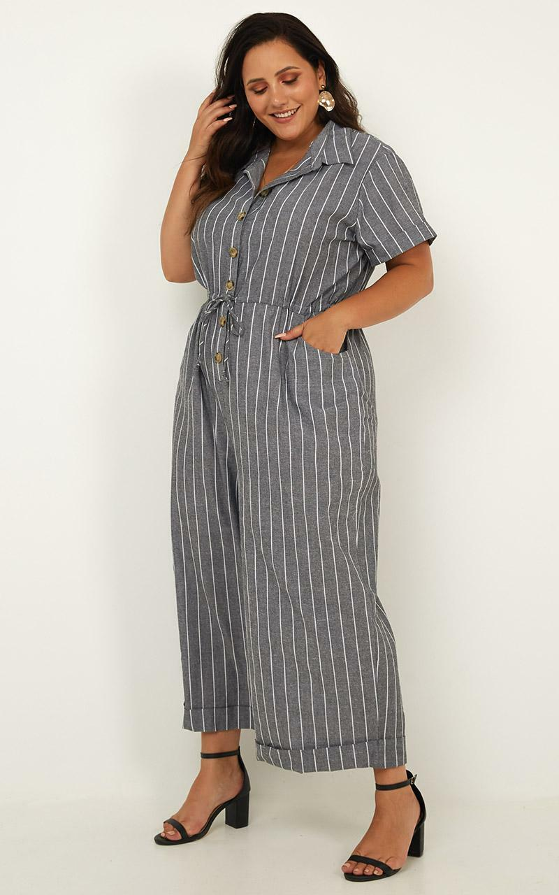 One Taught Me Love Jumpsuit in black stripe - 18 (XXXL), Black, hi-res image number null