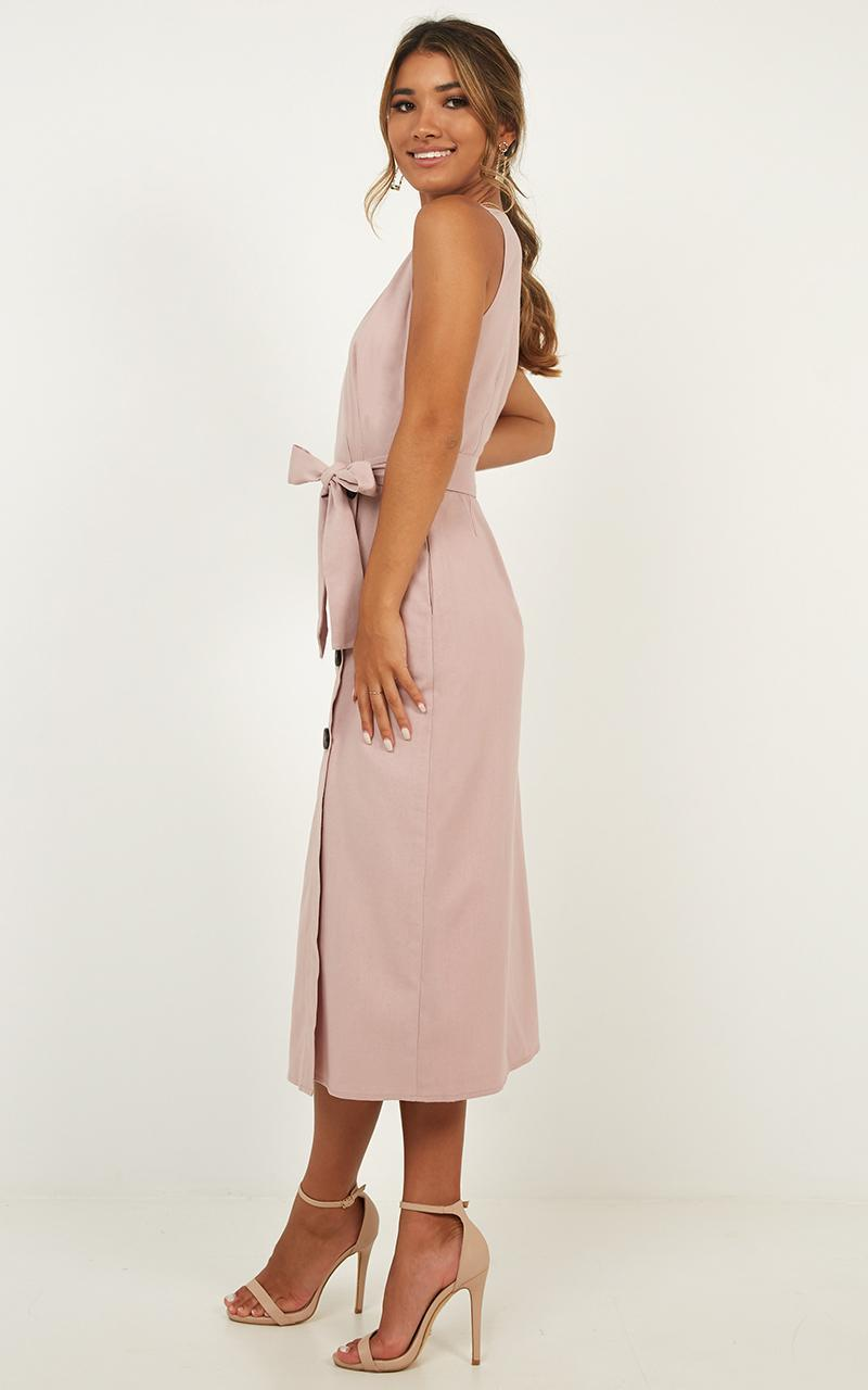 Out Of Office Dress in blush linen look - 20 (XXXXL), Blush, hi-res image number null