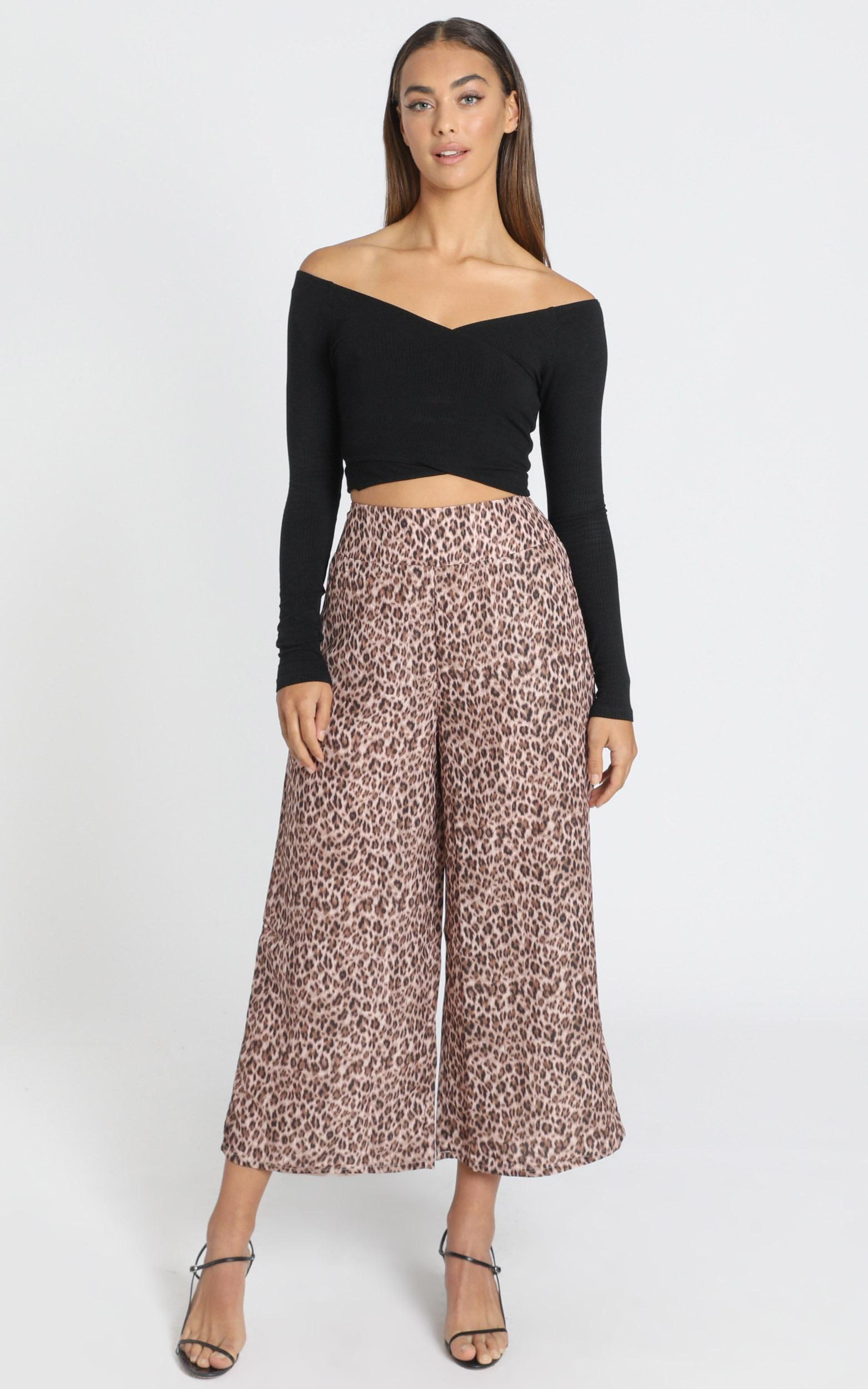 Elisa Pants in Leopard Print - 6 (XS), Brown, hi-res image number null