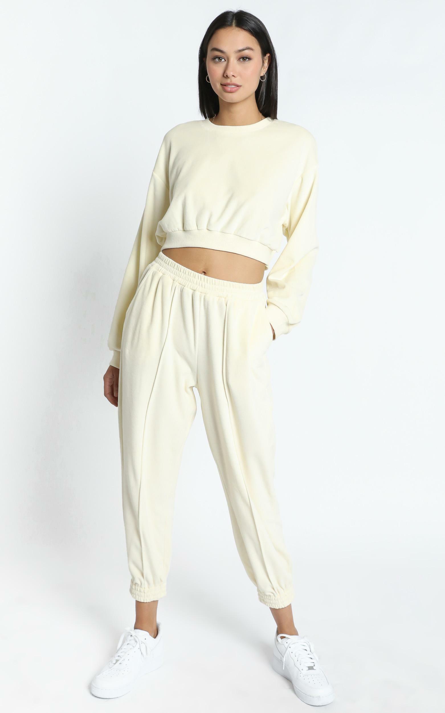 Merrick Sweat Pants in Cream - 12 (L), Cream, hi-res image number null
