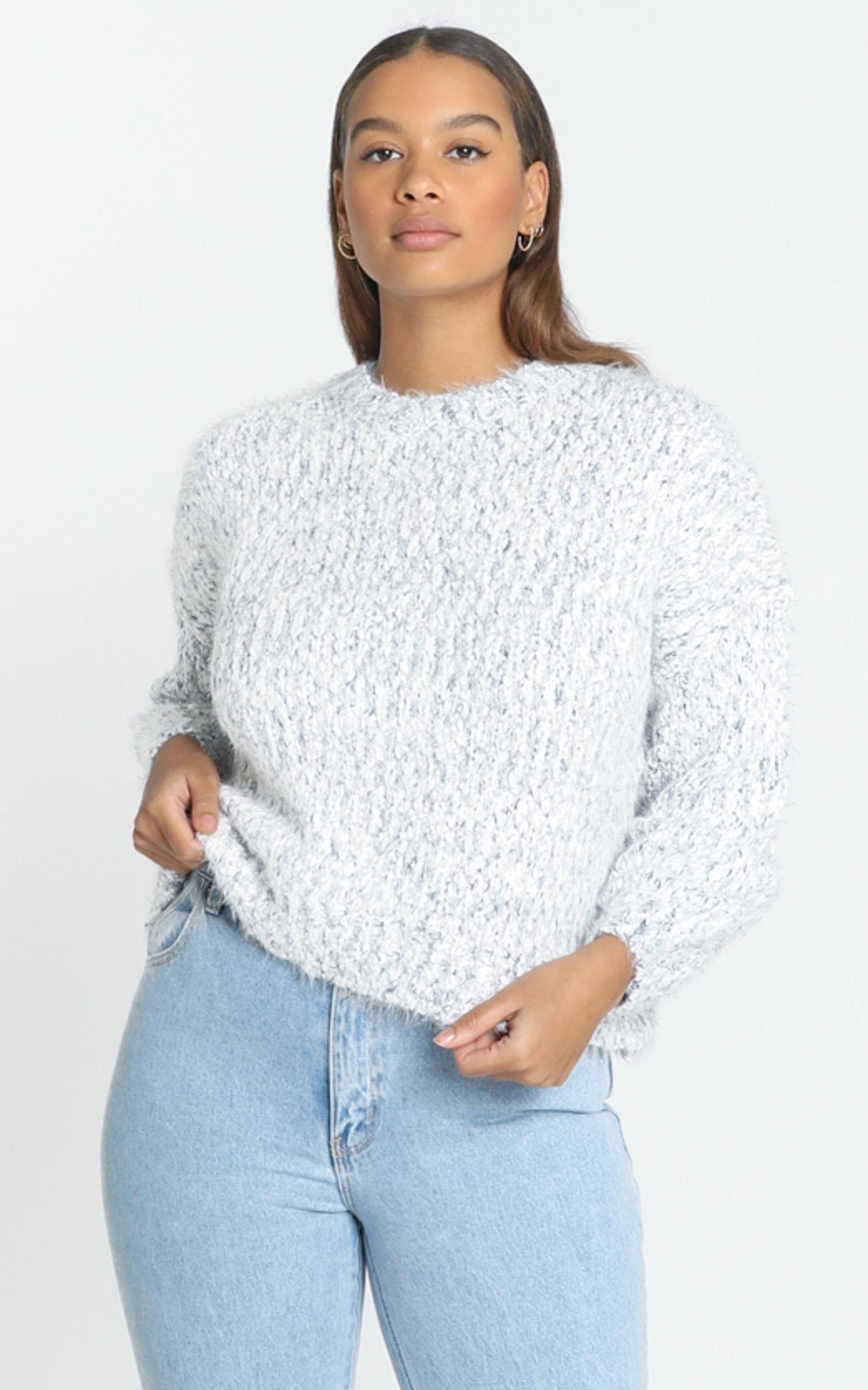 Gwyneth Jumper in White Marle - M/L, White, hi-res image number null