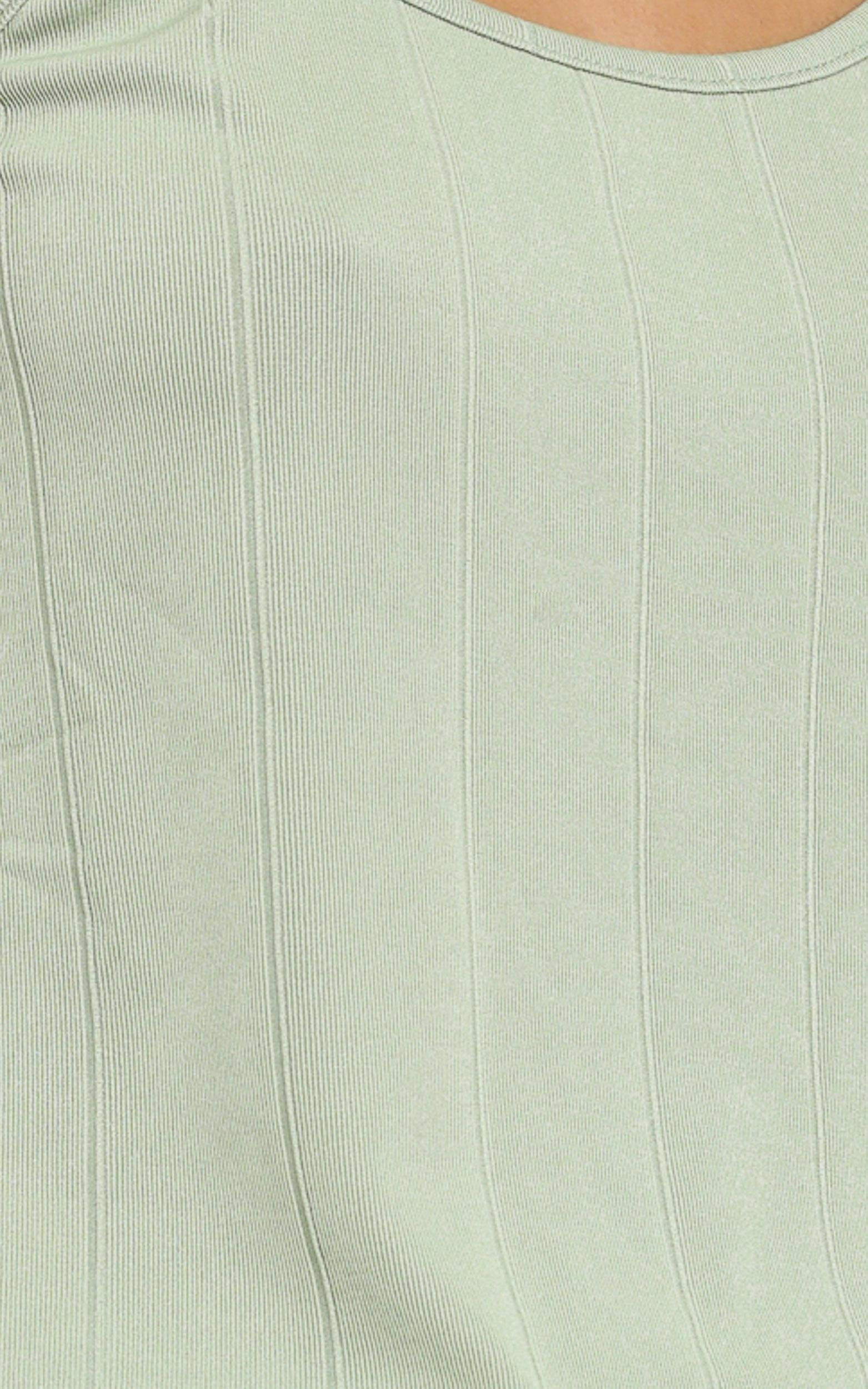 Shallow Singlet in Olive - 6 (XS), Green, hi-res image number null
