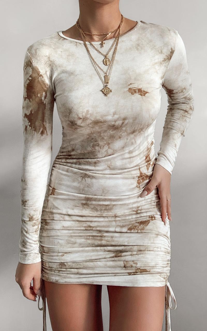 Raven Dress in Tie Dye - 14 (XL), Beige, hi-res image number null