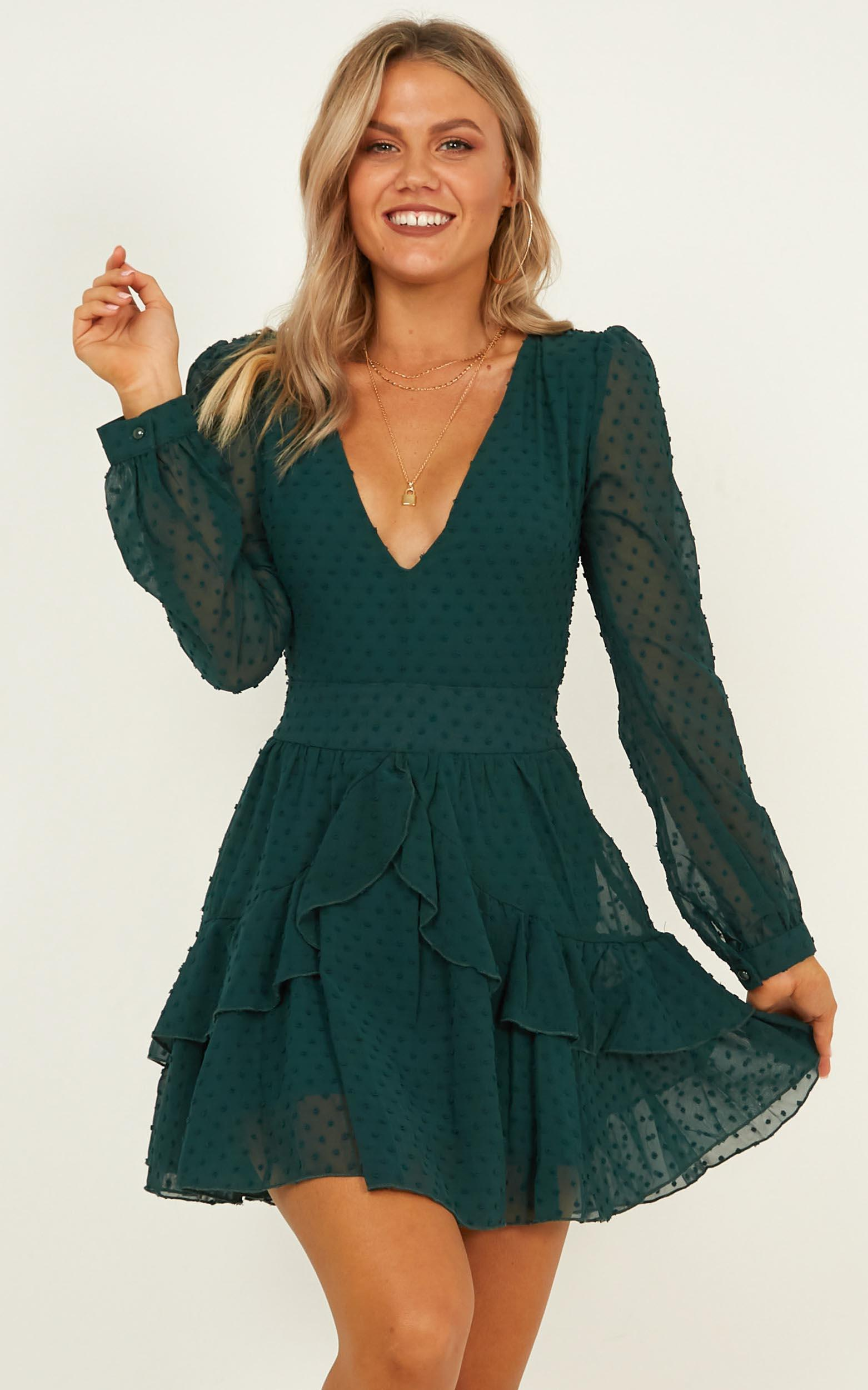 For A Rainy Day dress in emerald - 20 (XXXXL), Green, hi-res image number null