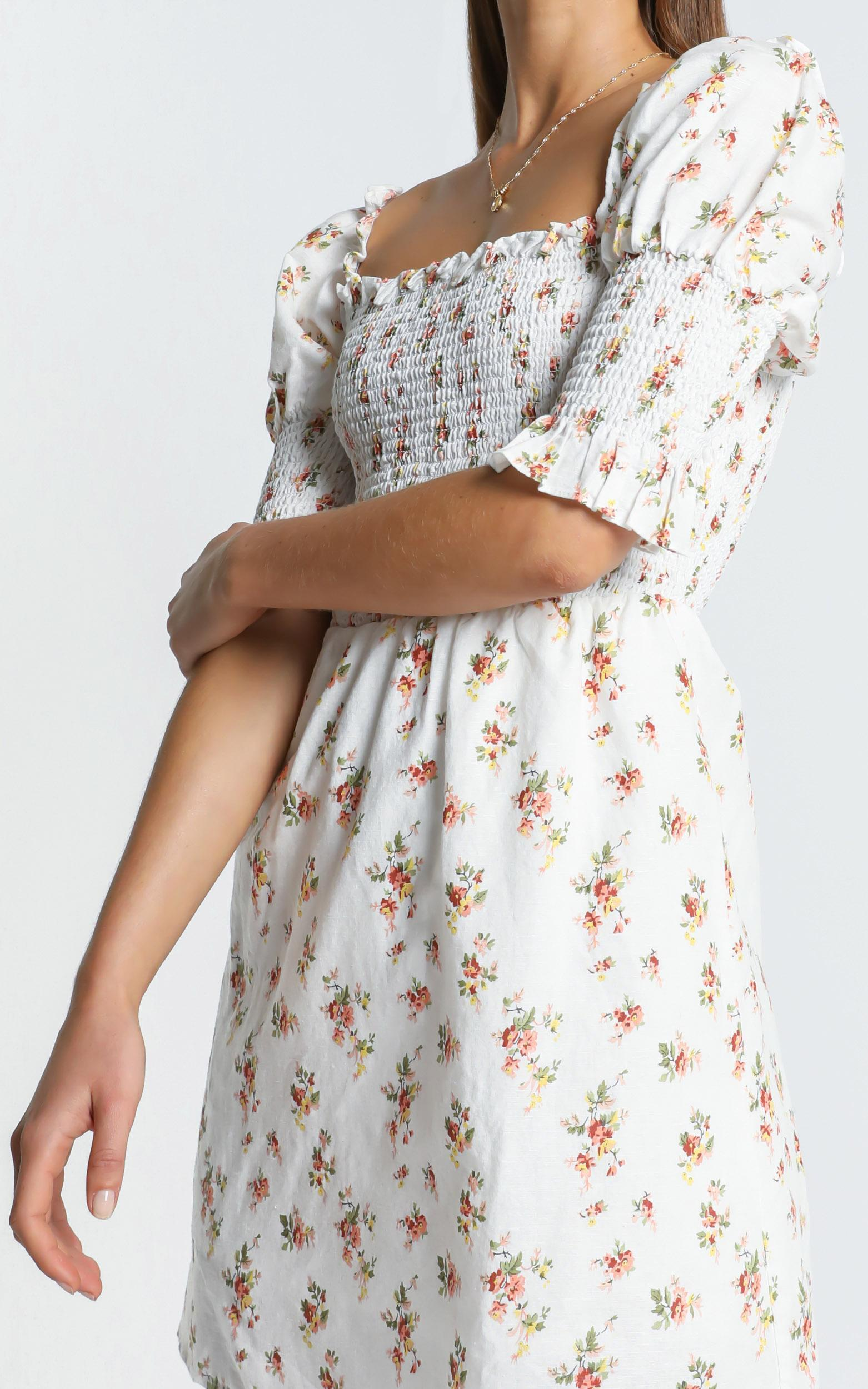 Faith Dress in Peach Floral - 6 (XS), ORG5, hi-res image number null