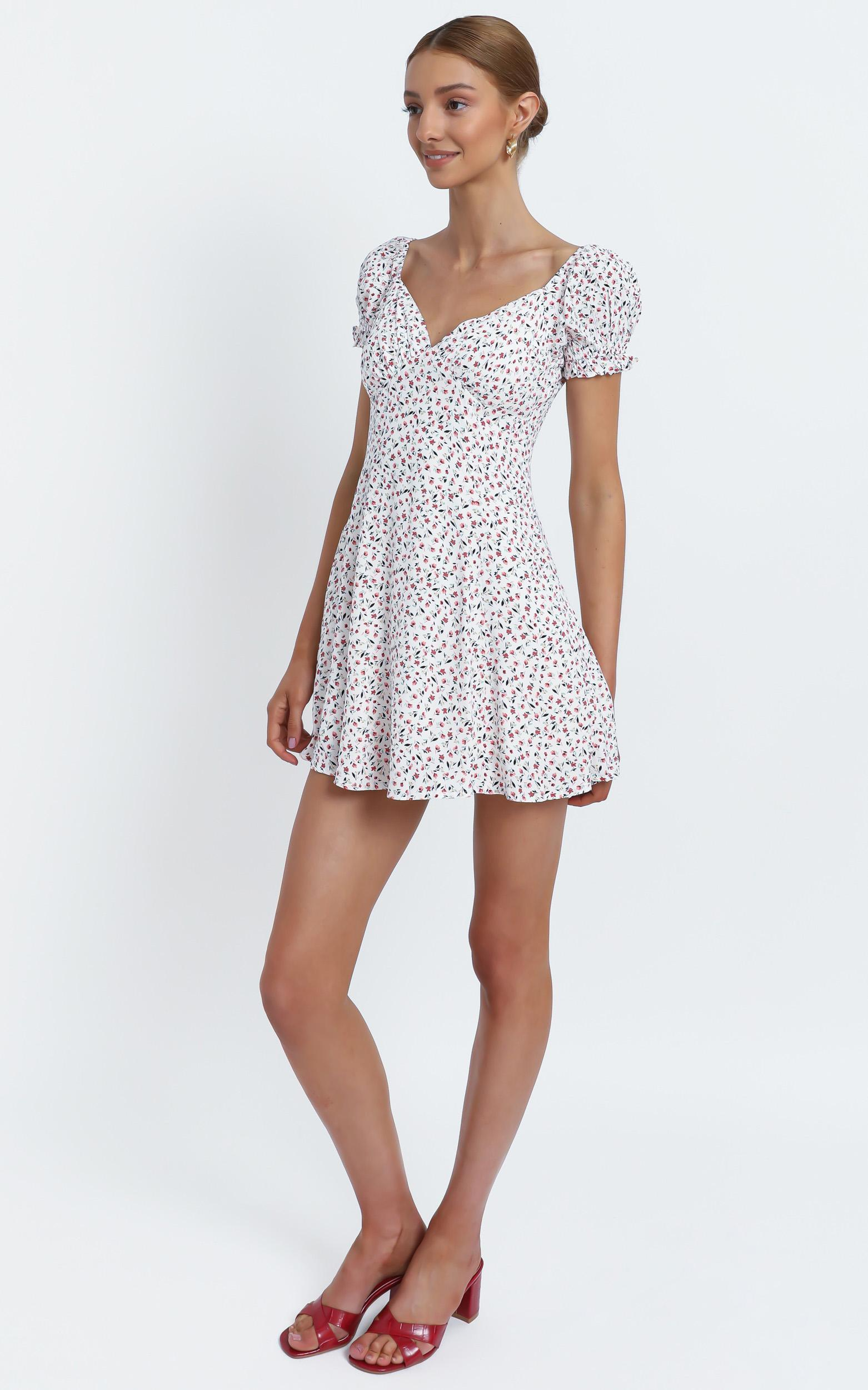Siena Dress in White Floral - 12 (L), White, hi-res image number null