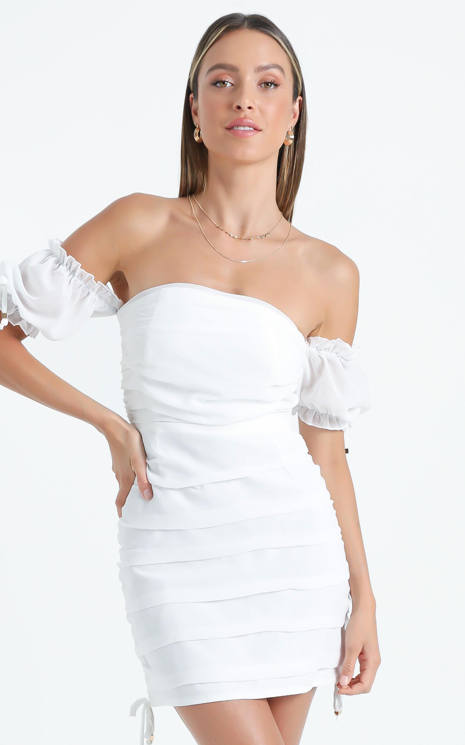 Cant Get You Off My Mind Dress in White - 4 (XXS), White, hi-res image number null