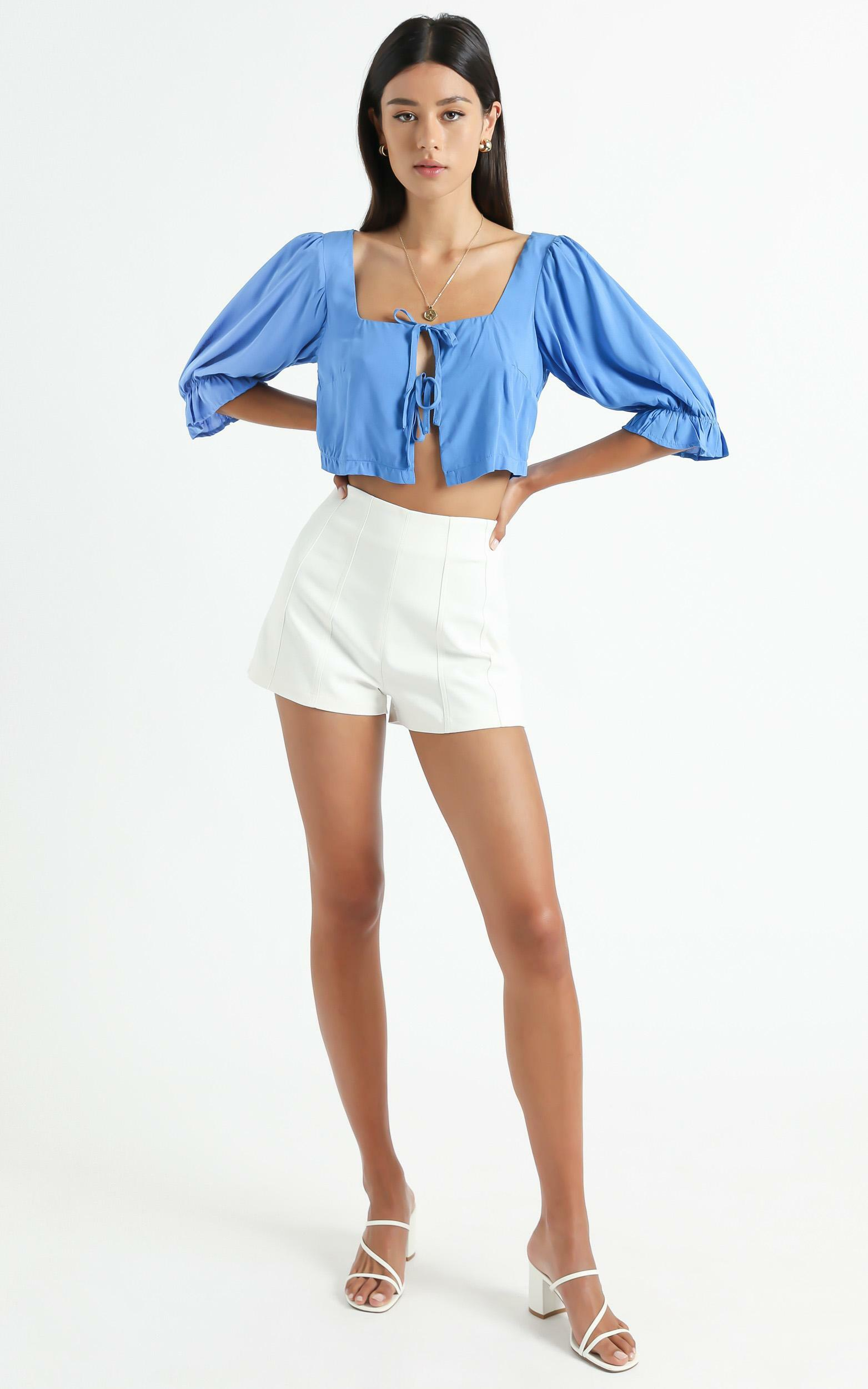 Kravia top in Blue - 6 (XS), Blue, hi-res image number null