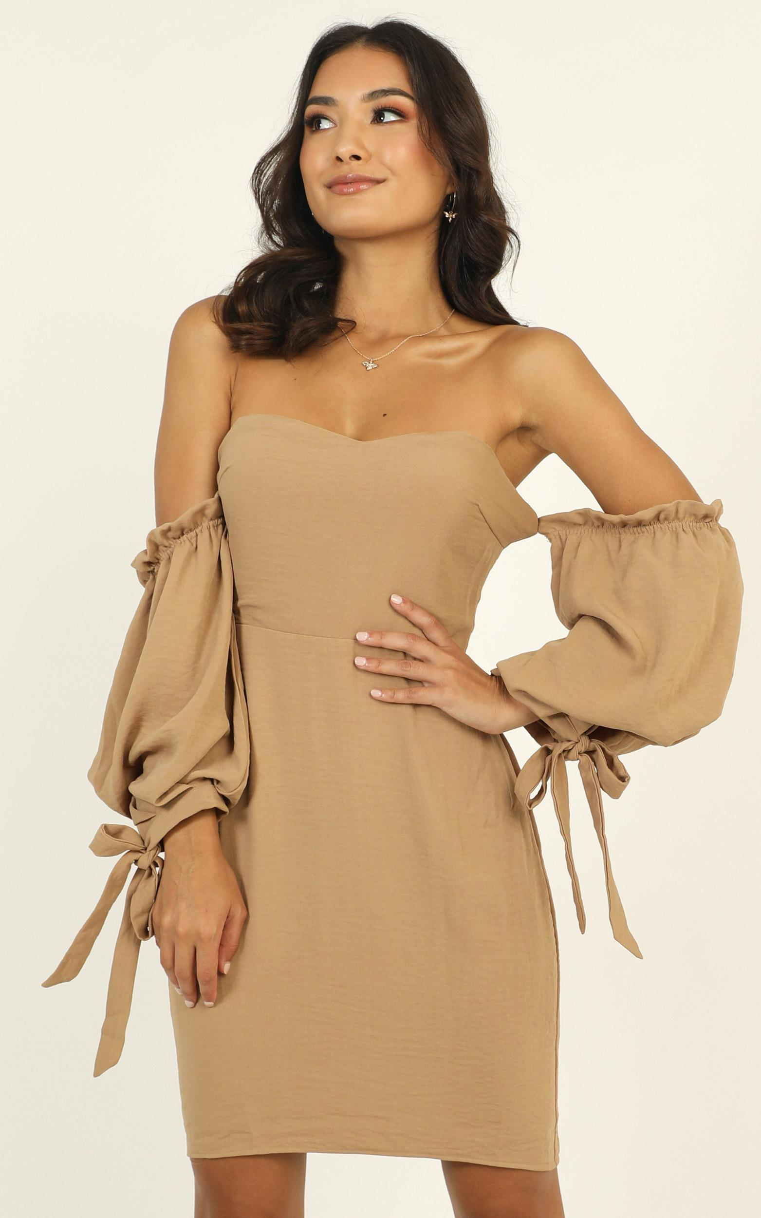 New Chance dress in beige - 12 (L), Beige, hi-res image number null