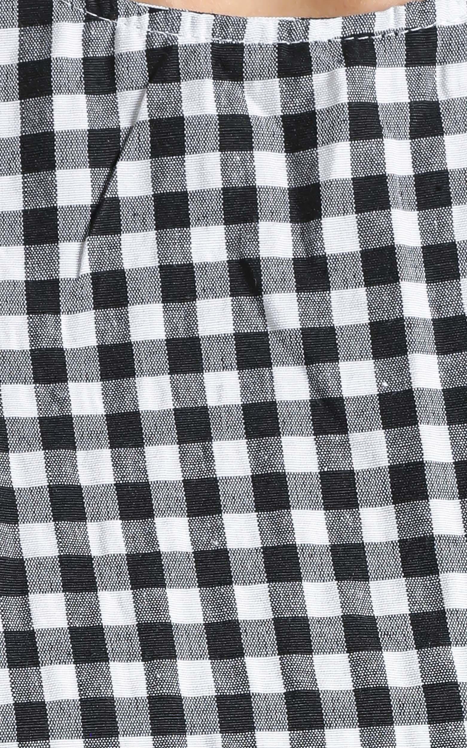 Maha Dress in Black Check - 14 (XL), Black, hi-res image number null