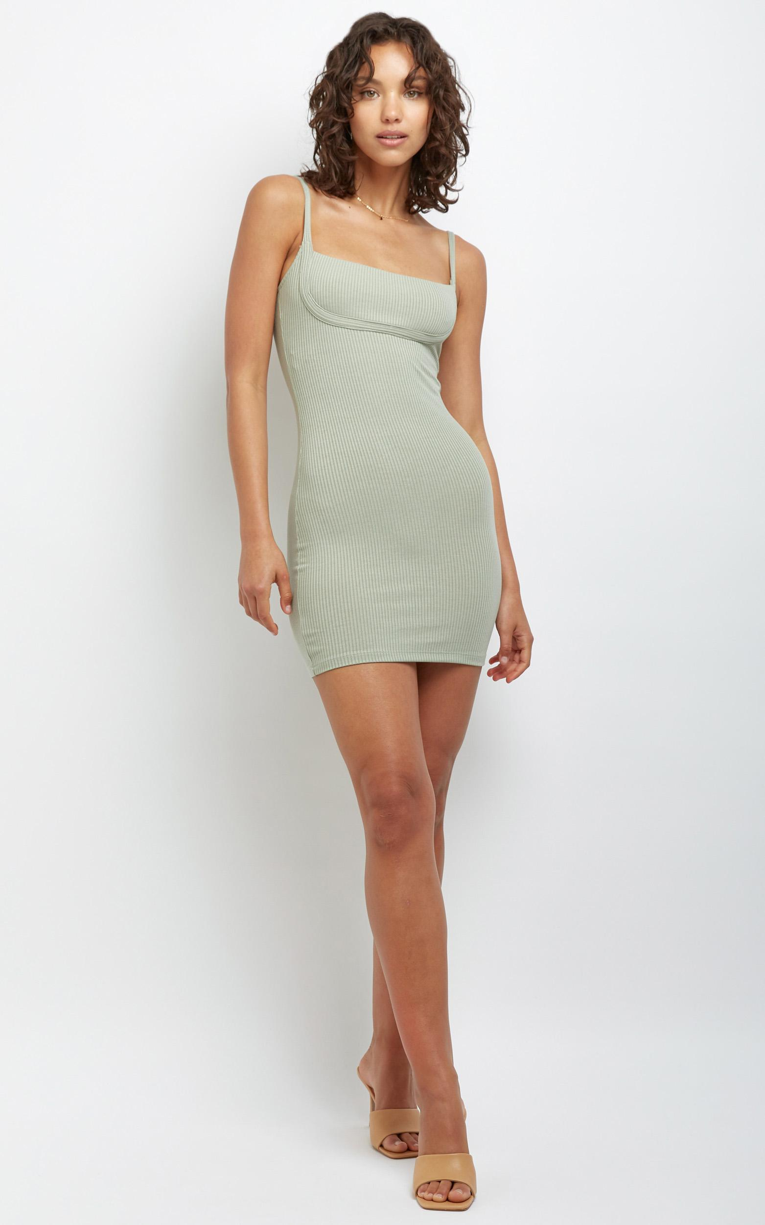 Valentina Dress in Khaki - 12 (L), Khaki, hi-res image number null