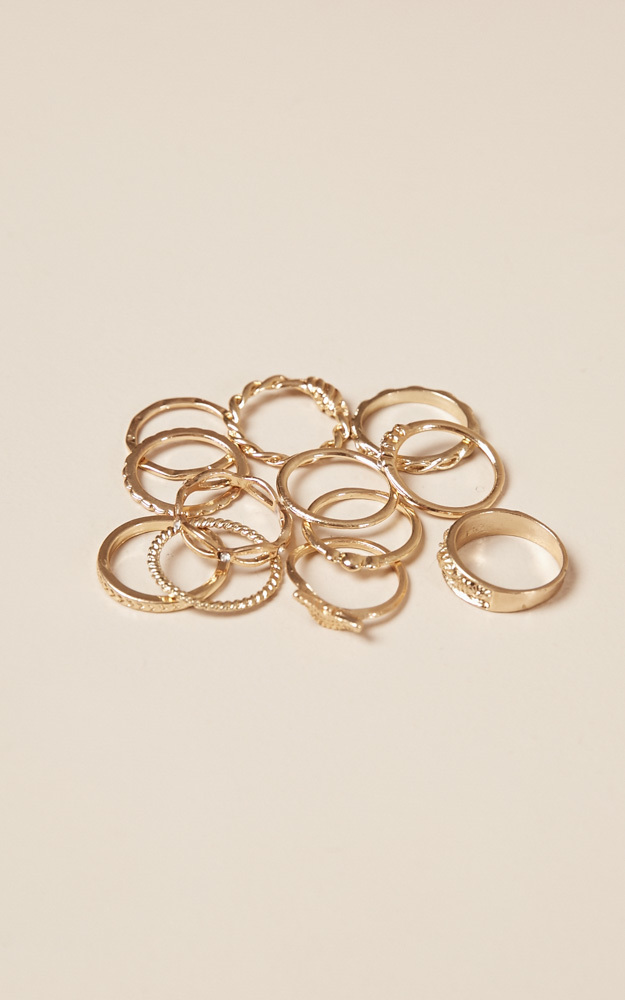 Drift Away 12 pc ring set in gold, , hi-res image number null