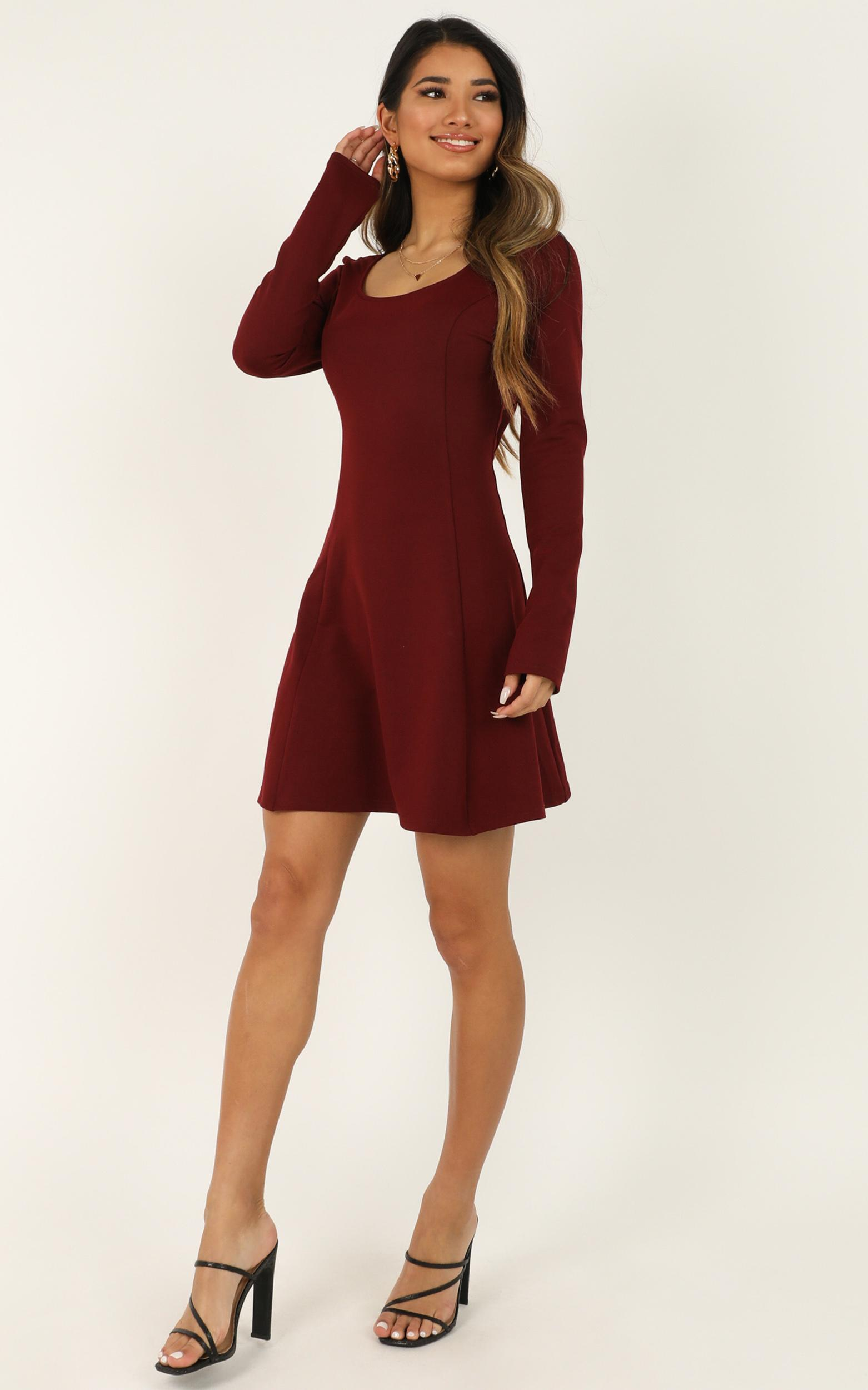 Seamless Dress in wine - 20 (XXXXL), Wine, hi-res image number null