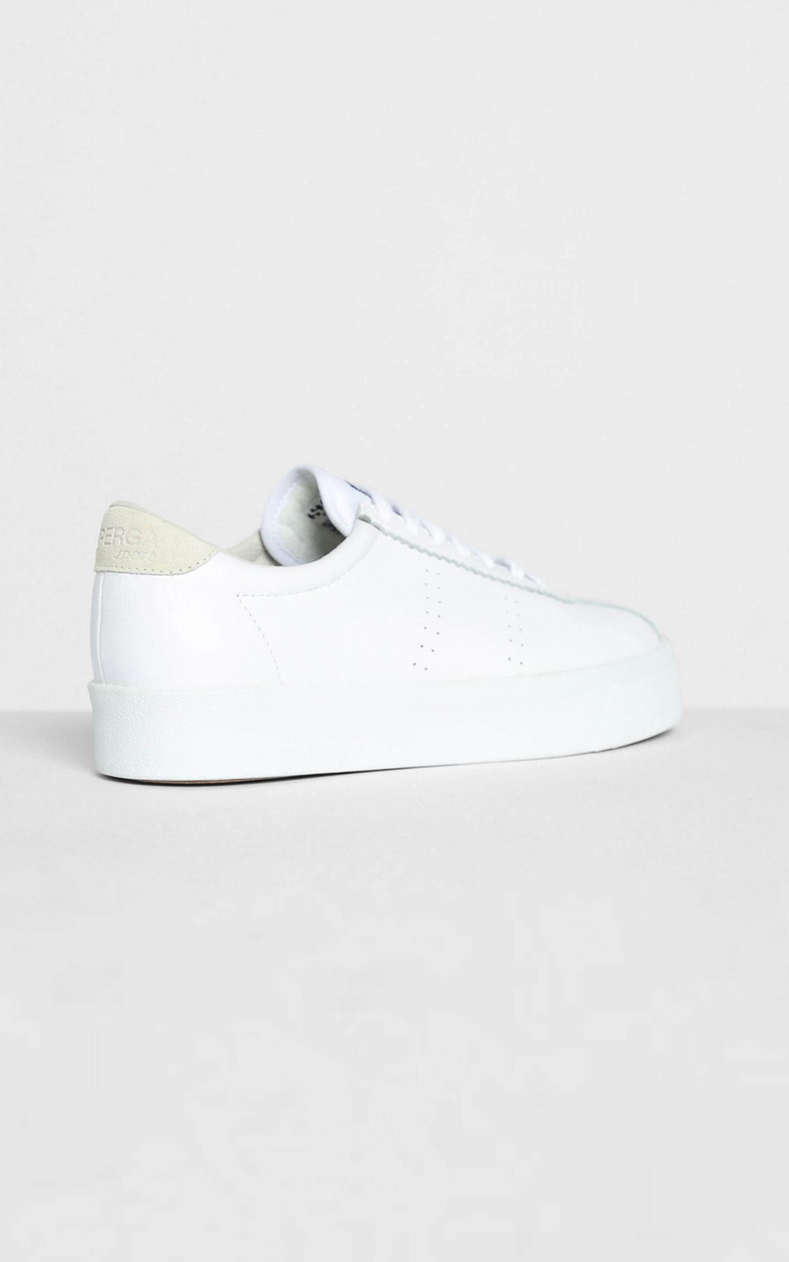 Superga - 2854 Club3 Leasuew Sneakers in White Beige LT Sand - 5, Beige, hi-res image number null