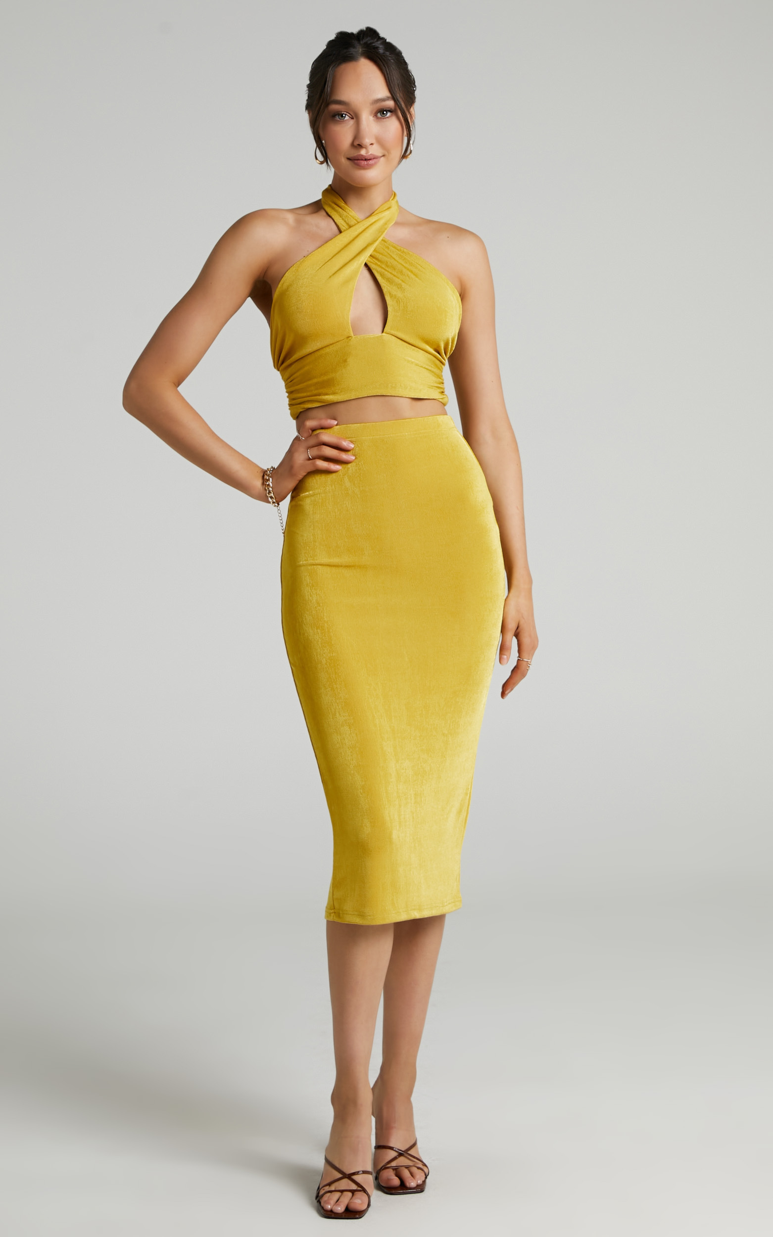 Runaway The Label - Letty Top in Butterscotch - L, YEL1, hi-res image number null