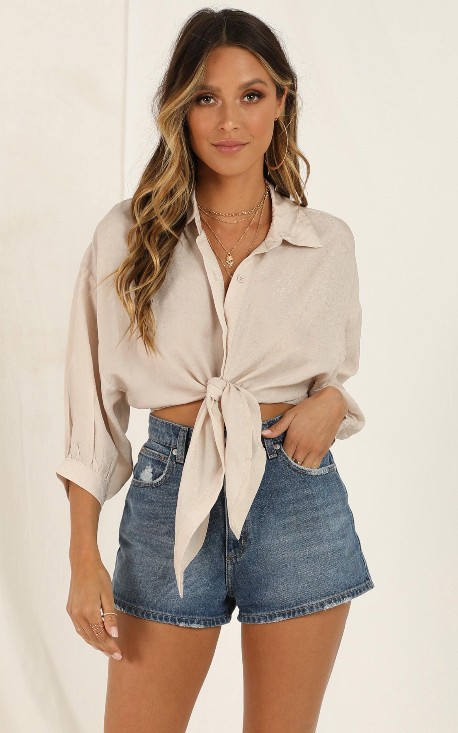 Youre Gone shirt in beige - 12 (L), Beige, hi-res image number null