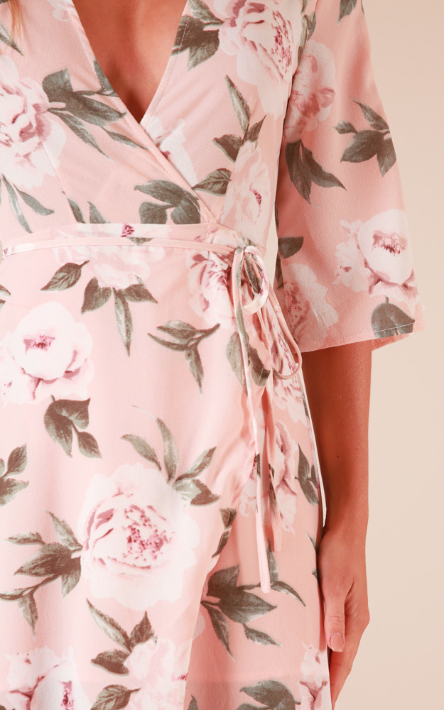 Slipped Away dress in blush floral - 20 (XXXXL), Blush, hi-res image number null