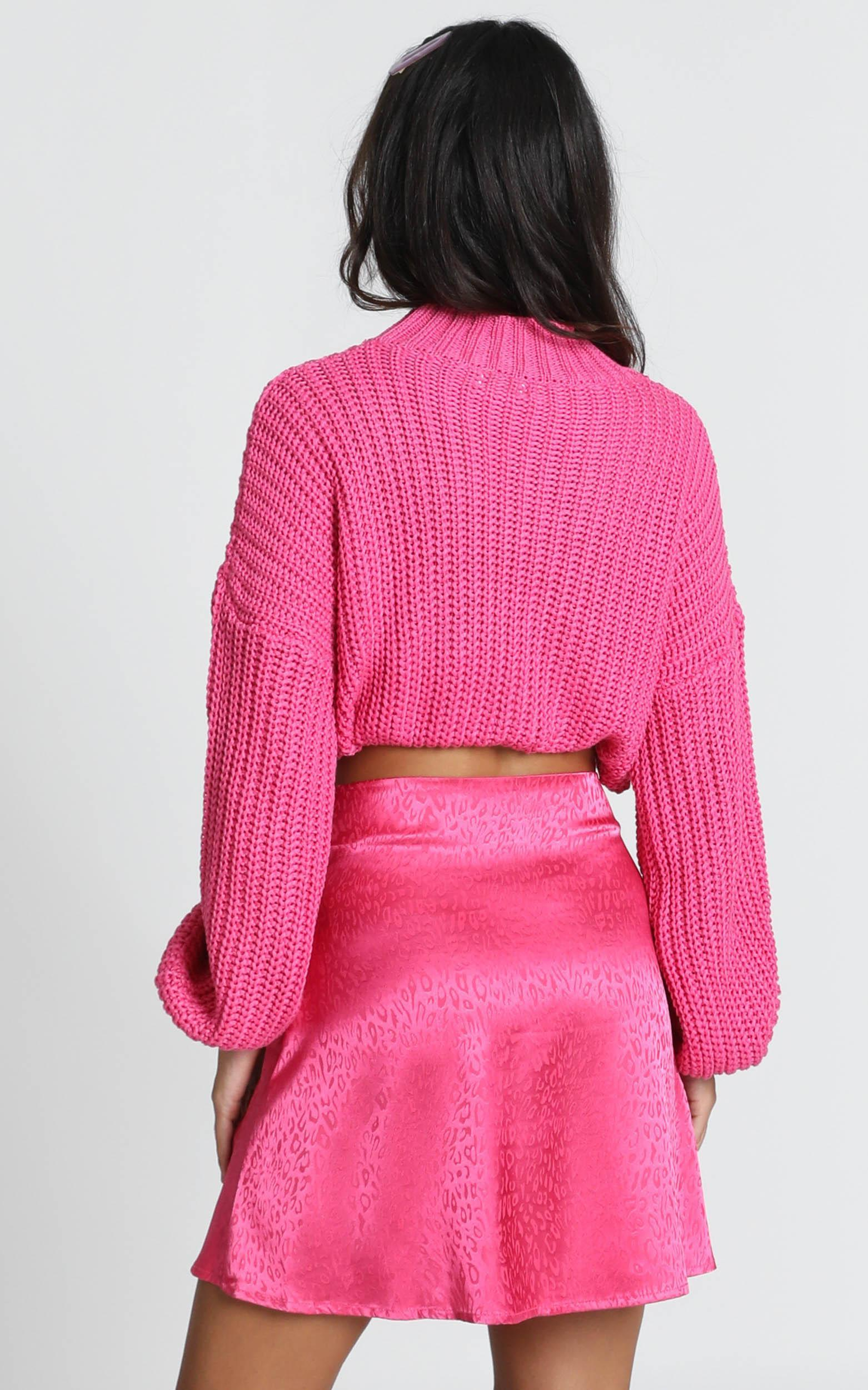 Party's Over Mini Skirt in pink leopard - 12 (L), Pink, hi-res image number null