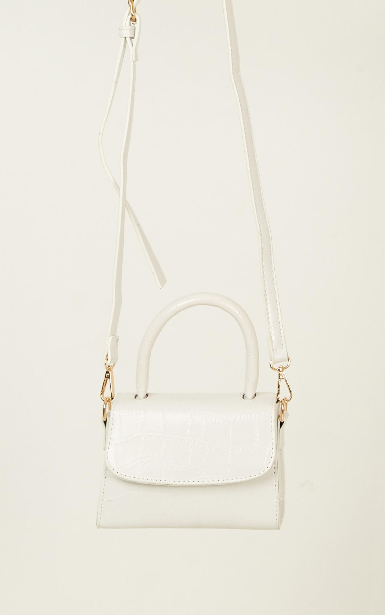 Halfway There Bag In White Croc, White, hi-res image number null