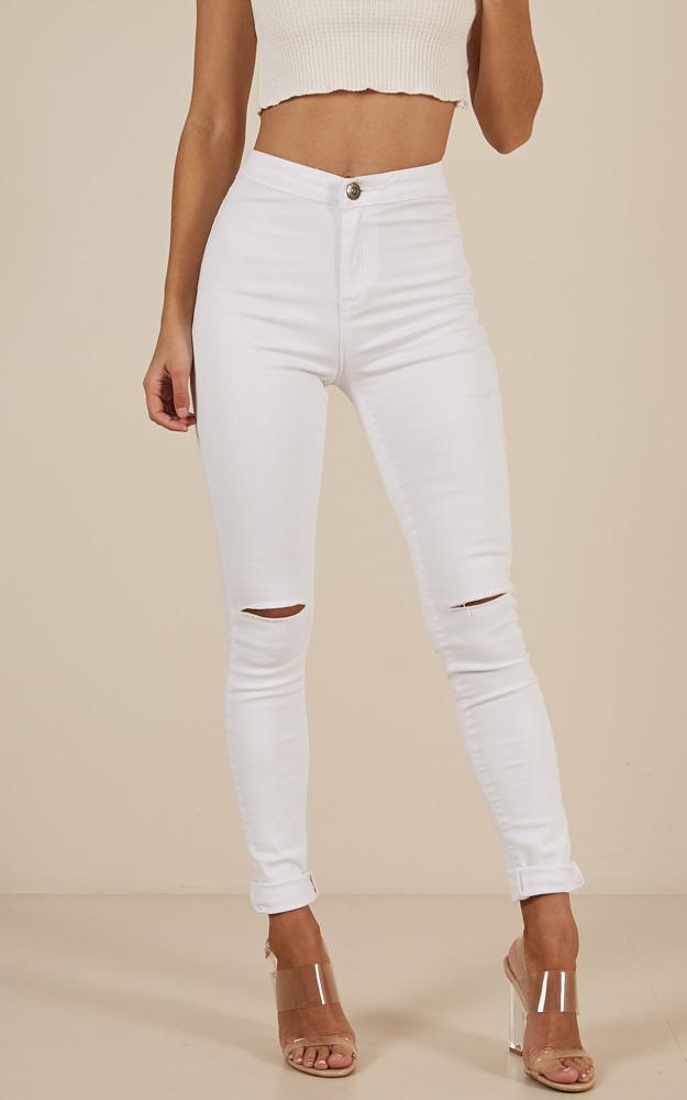 Bella Skinny jeans in white denim - 6 (XS), WHT5, hi-res image number null