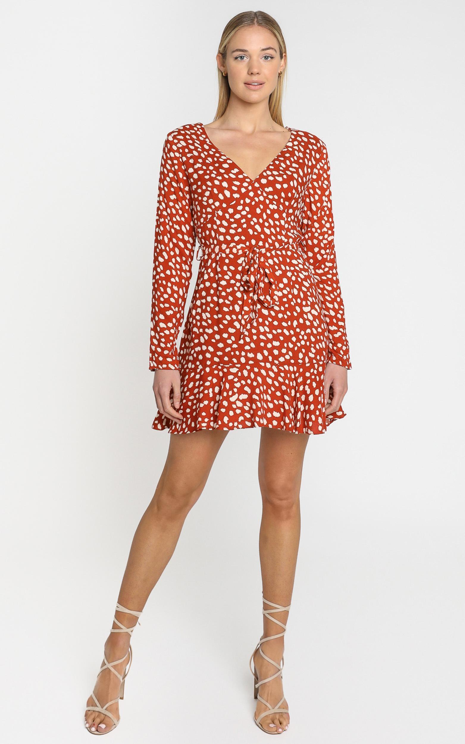 Farah Dress in Rust Spot - 6 (XS), Rust, hi-res image number null