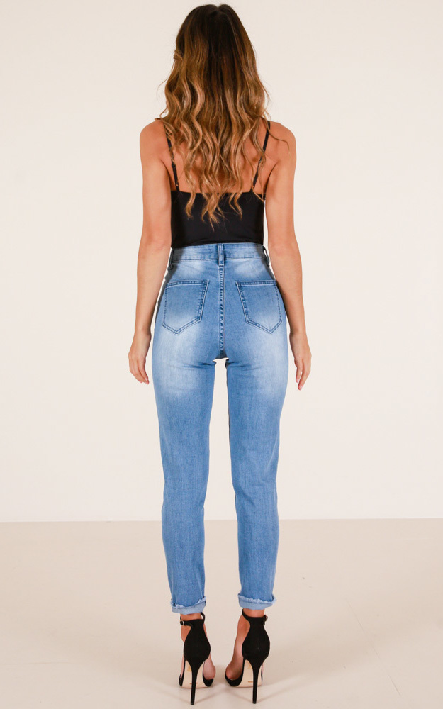 One Day Away jeans in blue wash - 4 (XXS), Blue, hi-res image number null