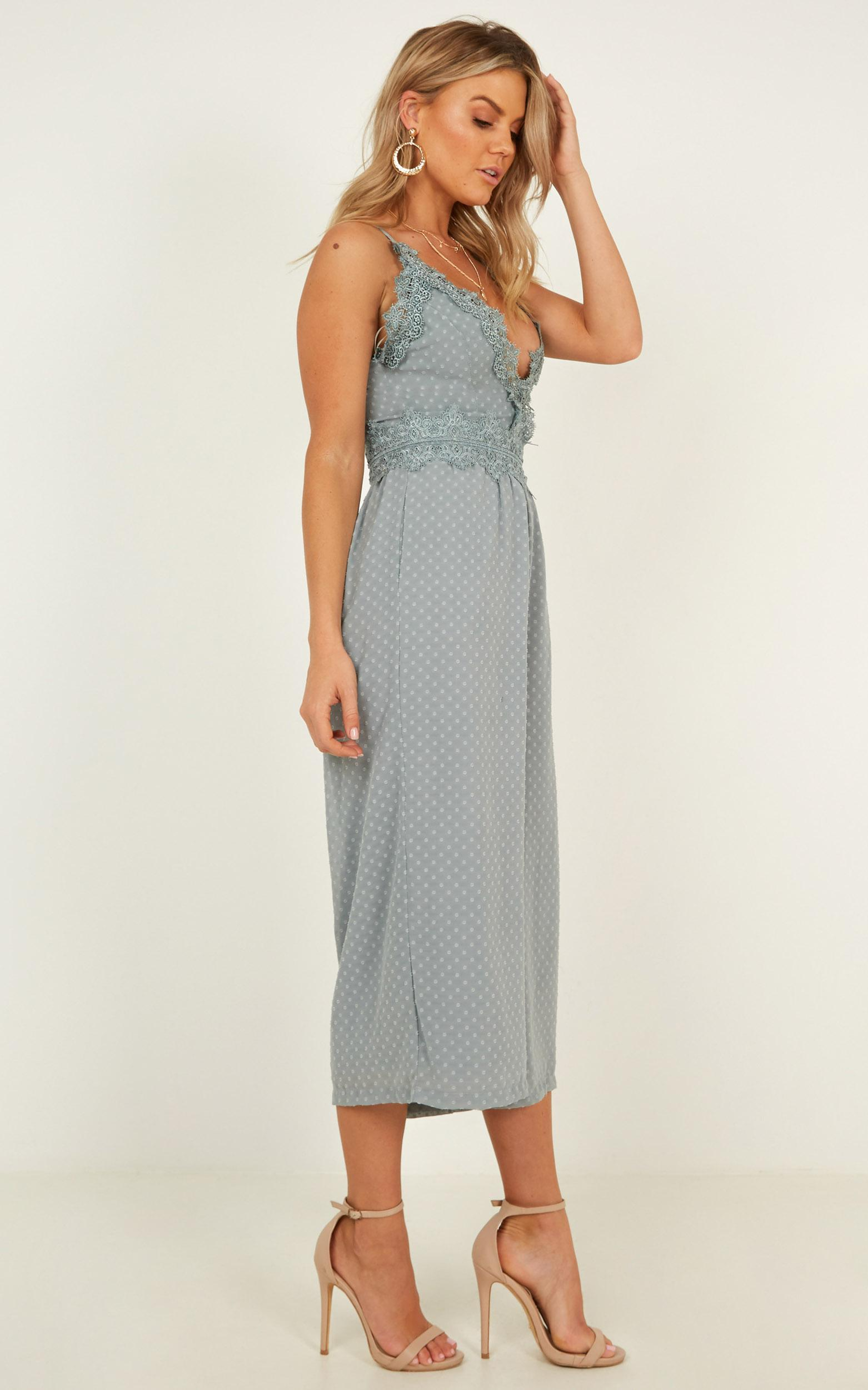 We Could Be Friends Jumpsuit in sage - 20 (XXXXL), Sage, hi-res image number null