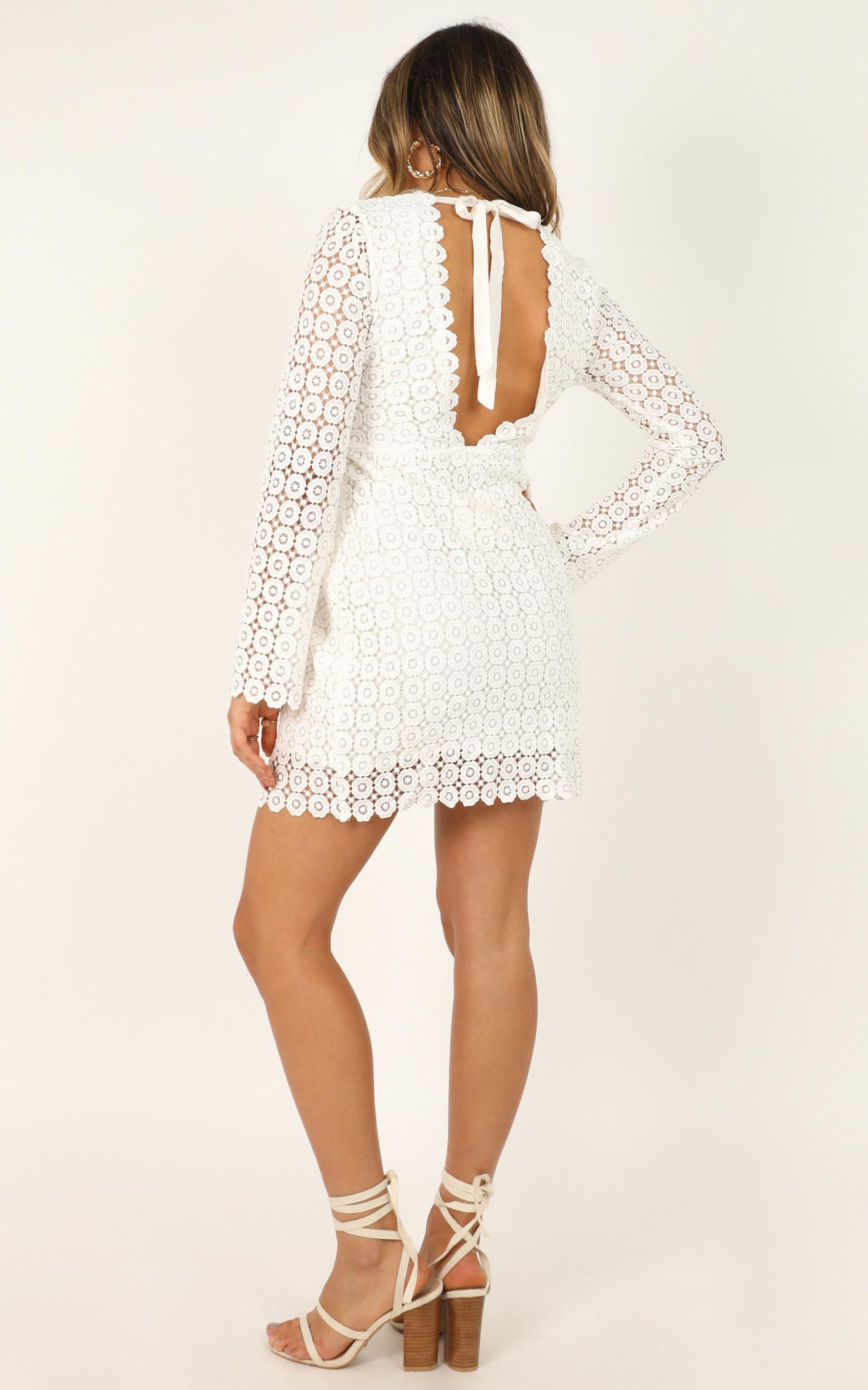 Lets make a toast dress in white lace - 12 (L), White, hi-res image number null