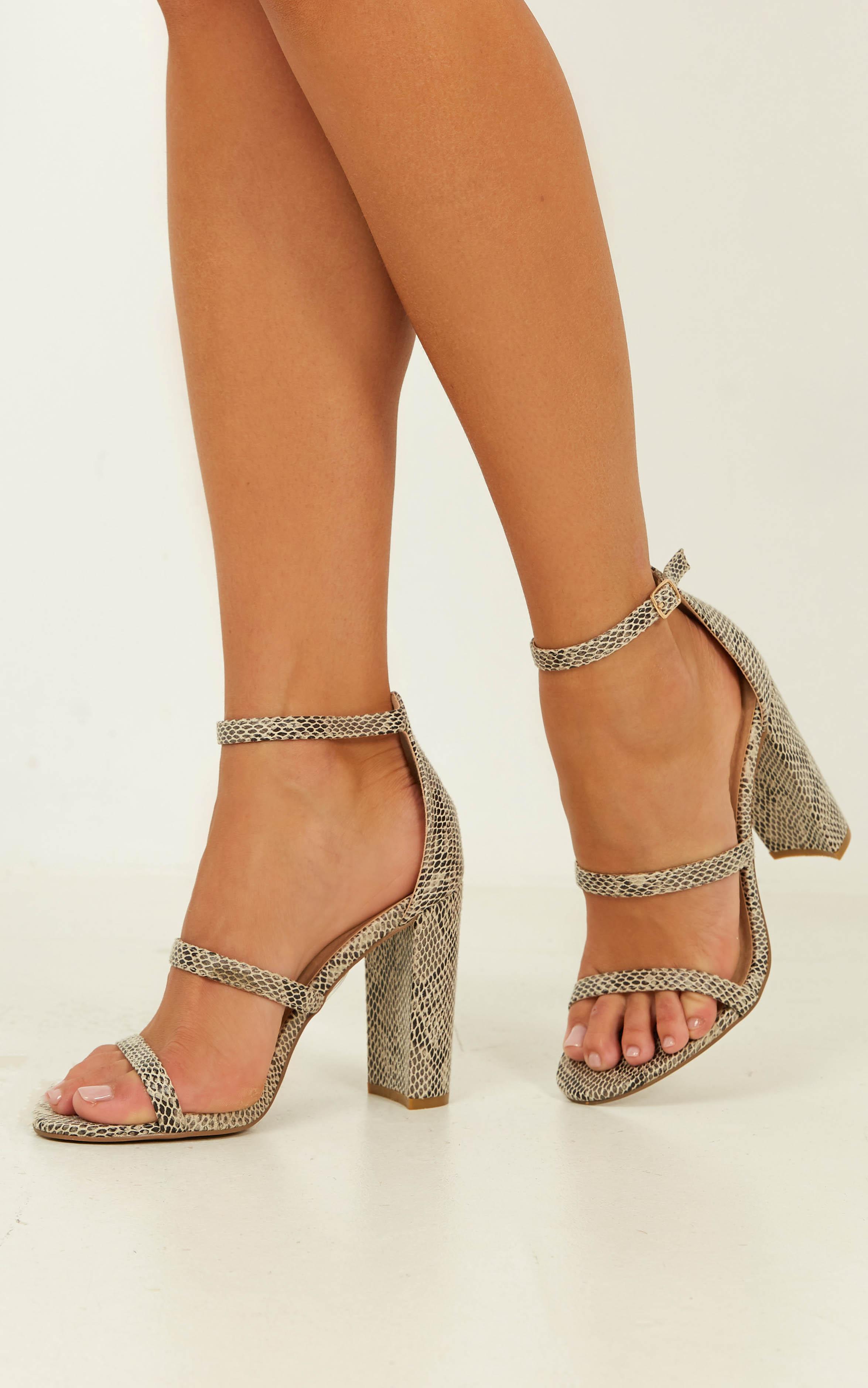 Billini - Jatari heels in beige reptile - 9, Beige, hi-res image number null