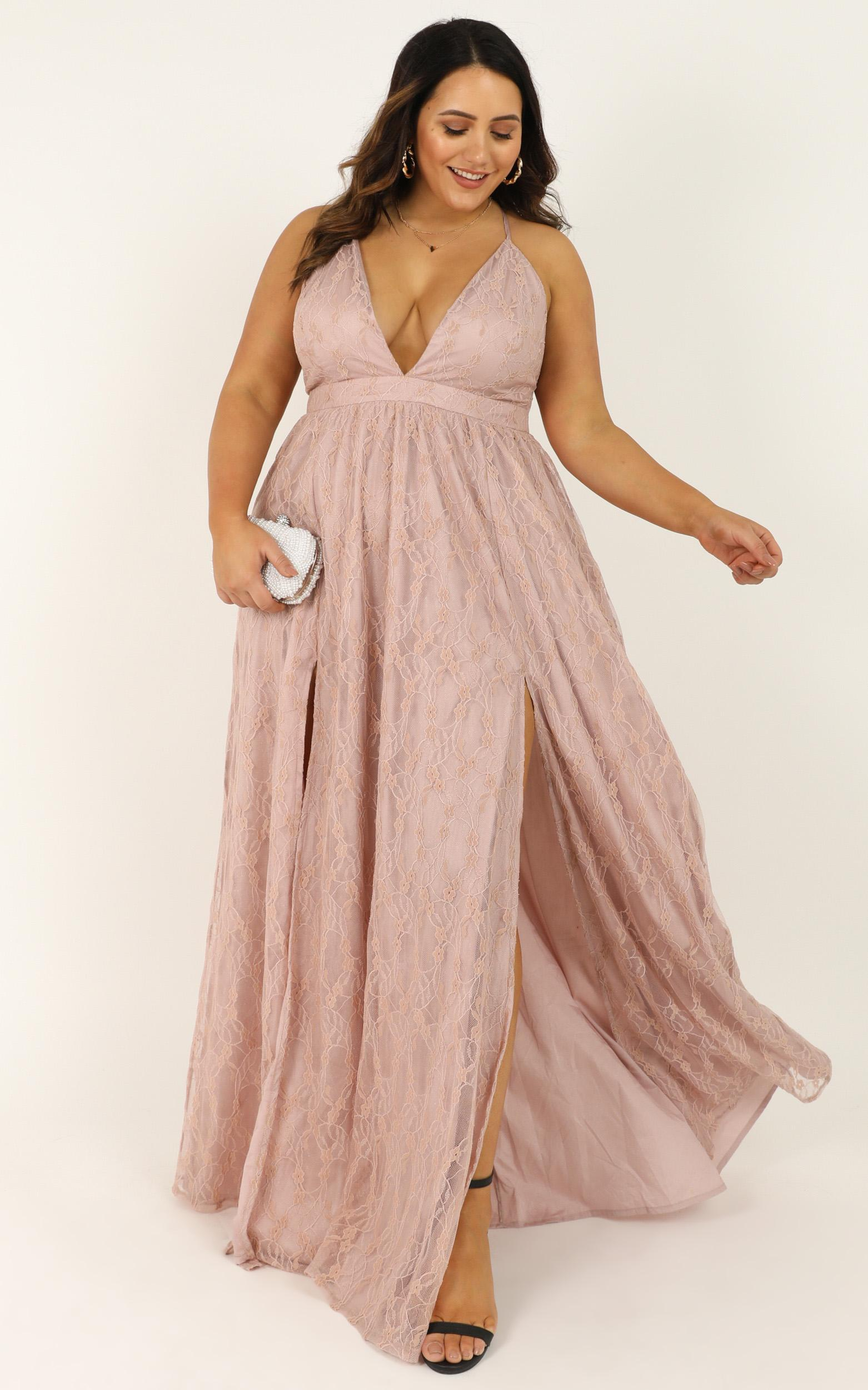 See Some Places Dress in blush lace - 20 (XXXXL), Blush, hi-res image number null