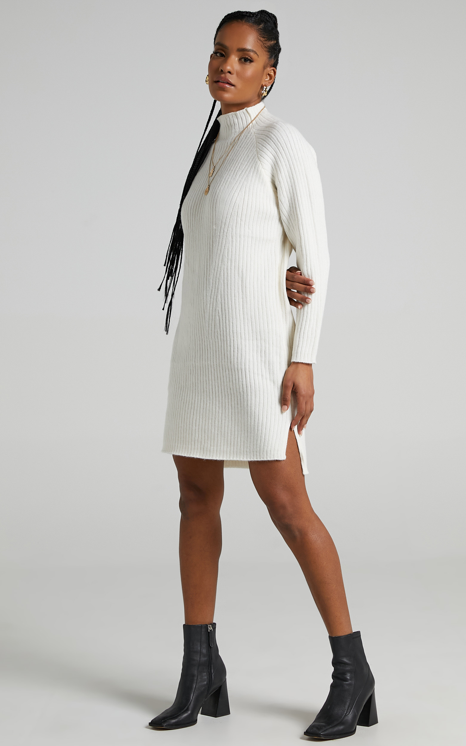 Shantelle Knit Dress in Cream - L/XL, CRE1, hi-res image number null