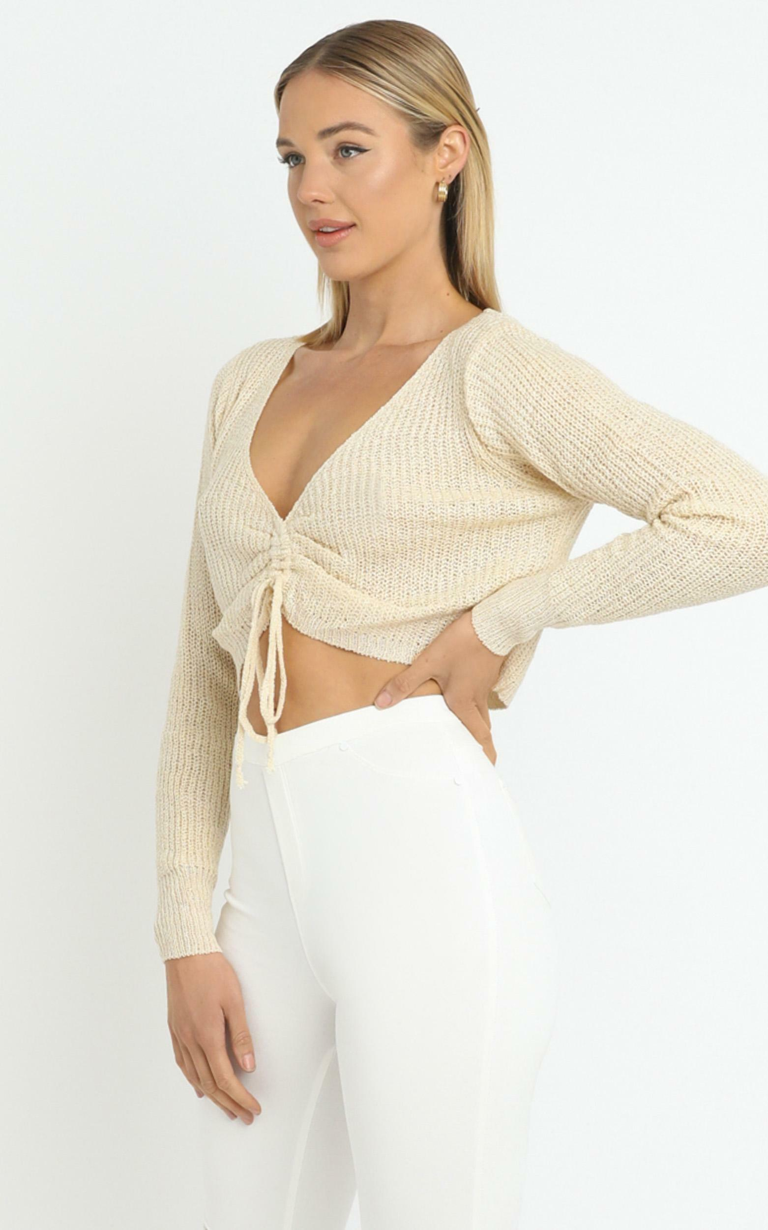 Anamarie Knit Top in Beige - M/L, Beige, hi-res image number null