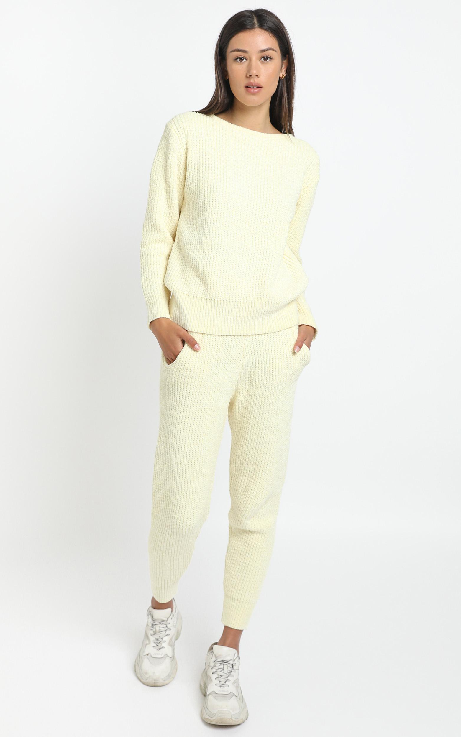 Tabitha Knit Jumper in Pastel Yellow - 12 (L), Yellow, hi-res image number null