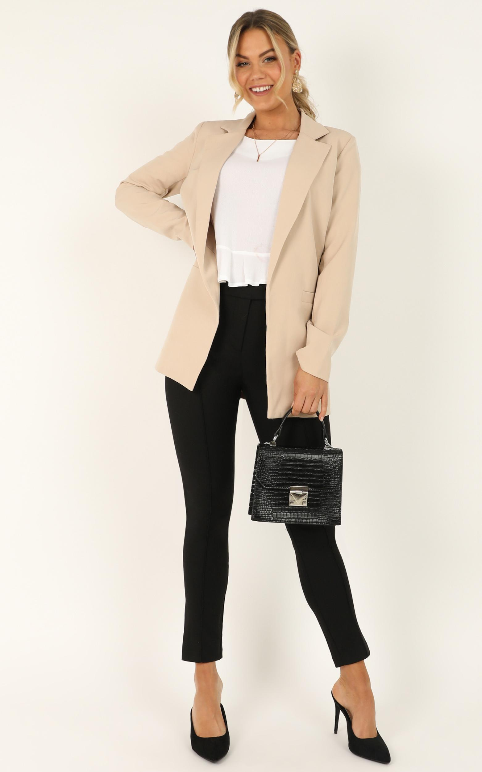 Inquisitive lady Blazer in beige - 20 (XXXXL), Beige, hi-res image number null