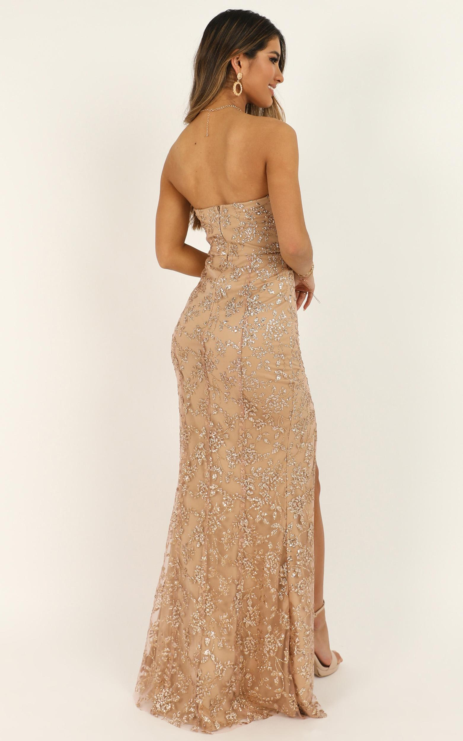 Say Its Not So Dress in rose gold glitter - 20 (XXXXL), Rose Gold, hi-res image number null