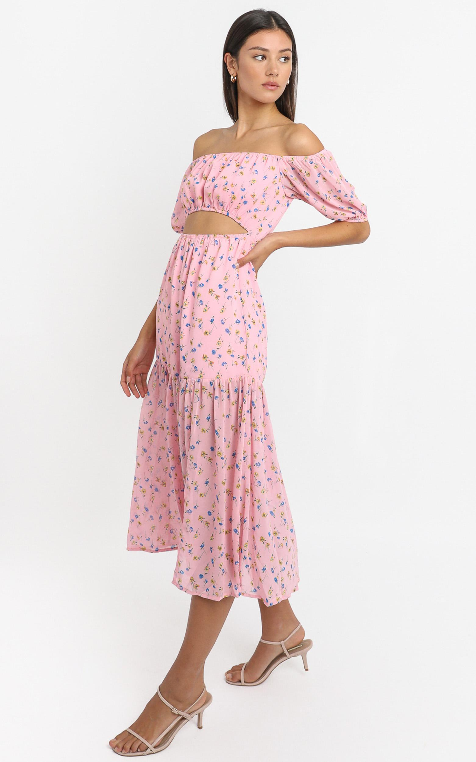 Saint Tropez Dress in pink floral - 4 (XXS), Pink, hi-res image number null