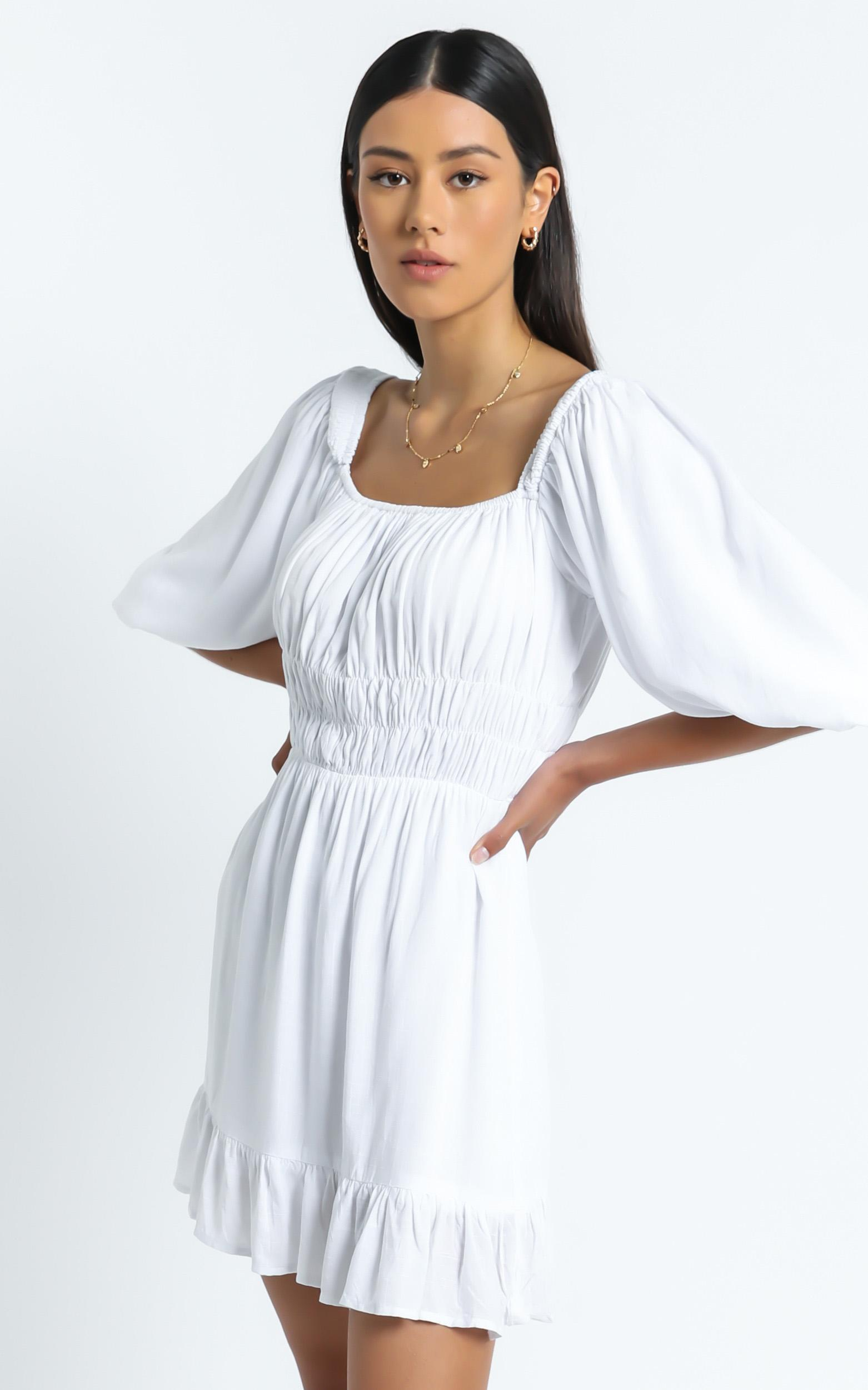 Theodora Dress in White - 6 (XS), White, hi-res image number null