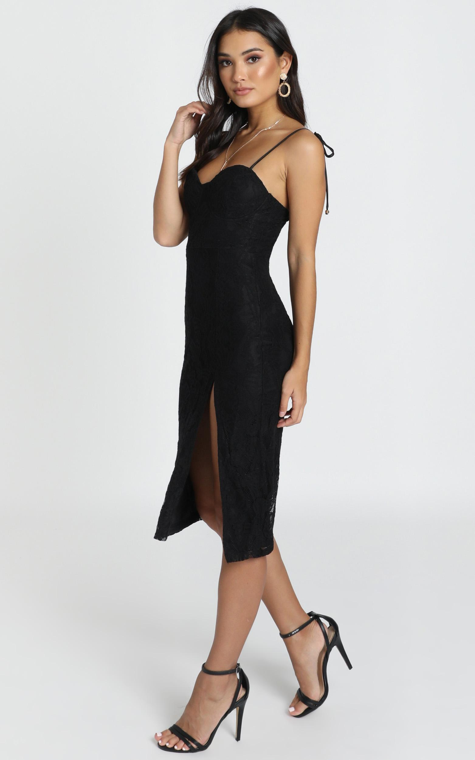 Youve Got The Power Dress in black lace - 20 (XXXXL), Black, hi-res image number null
