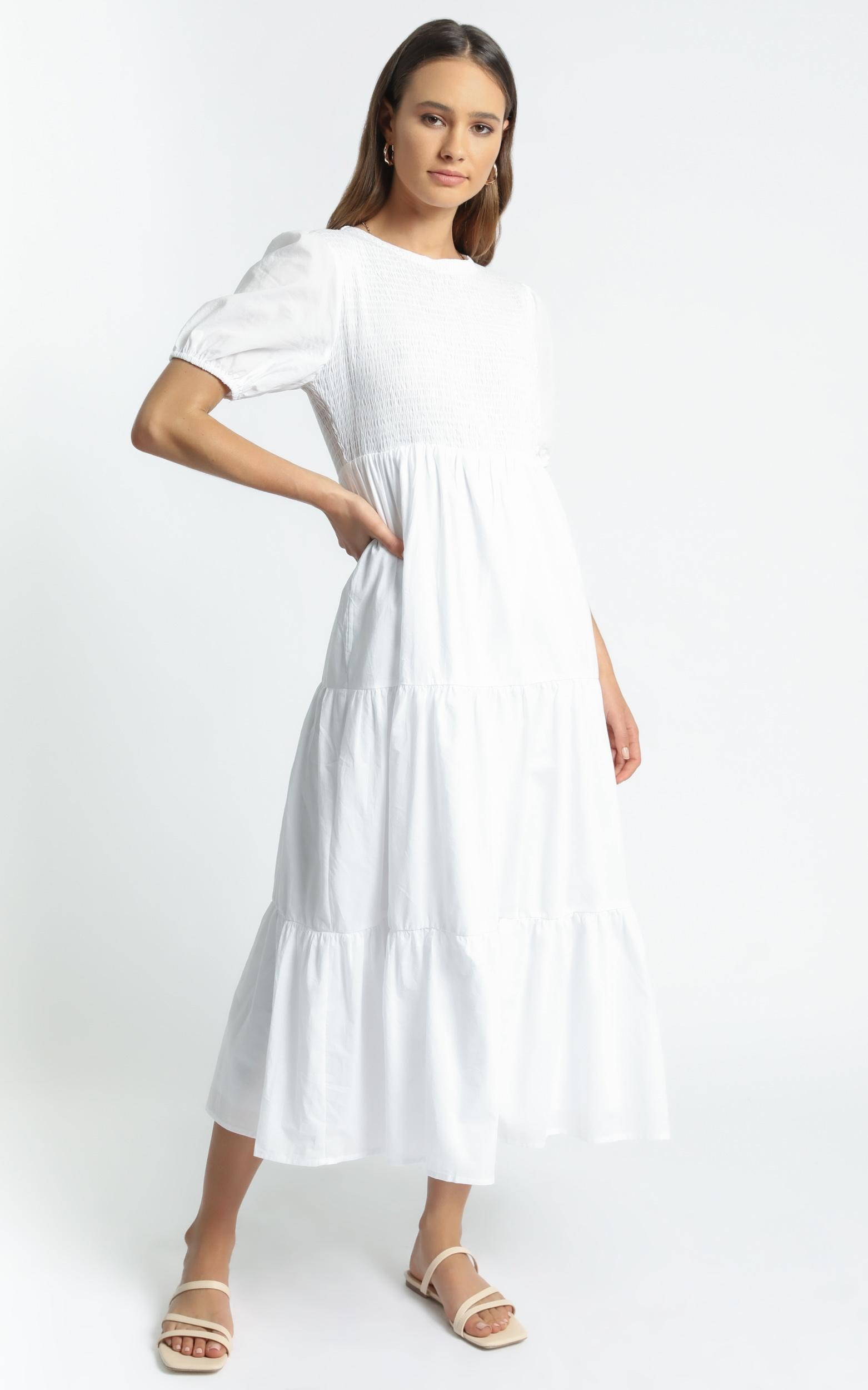 Lorrie Dress in White - 6 (XS), White, hi-res image number null