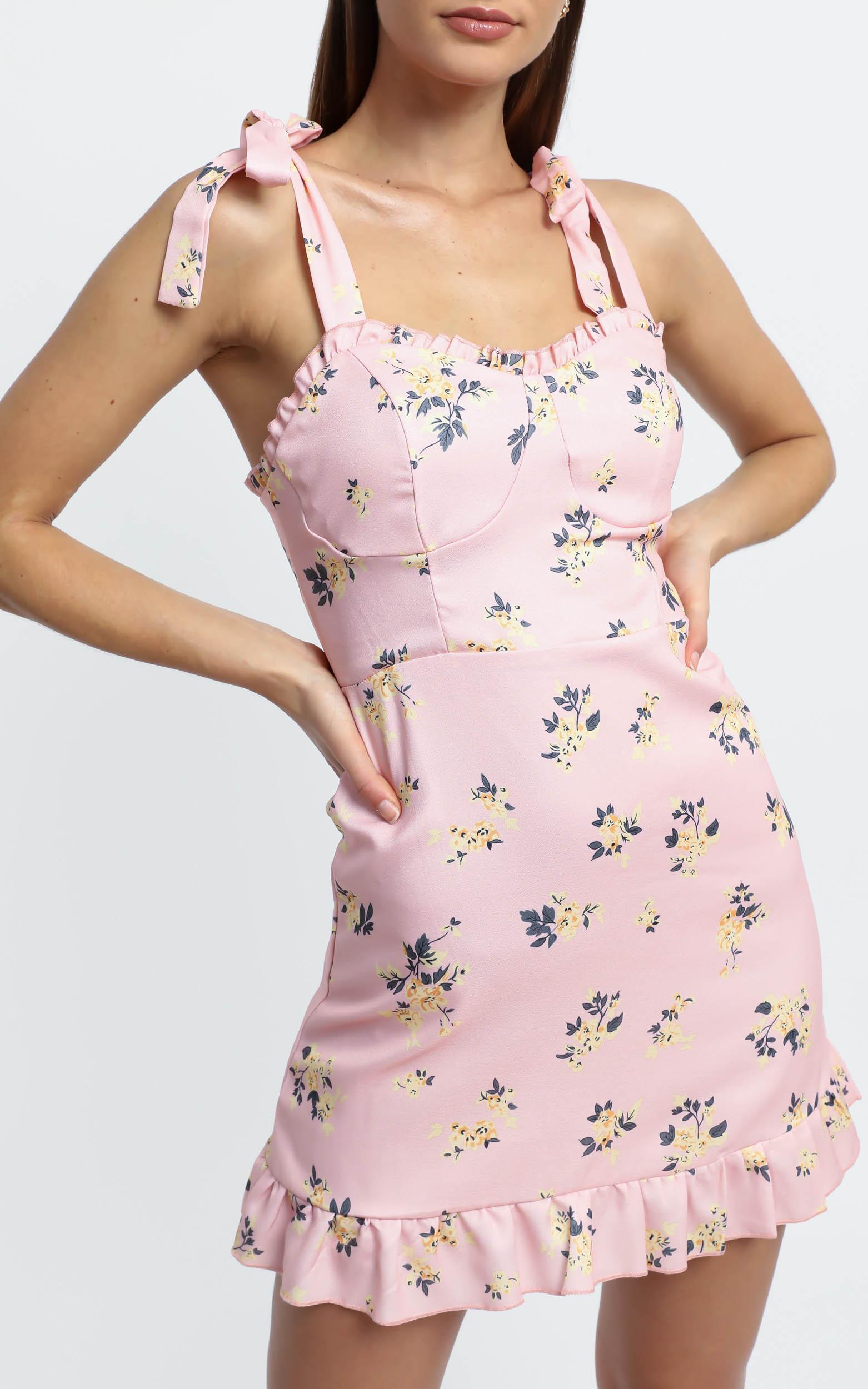 Zoelle Dress in Pink Floral - 8 (S), Pink, hi-res image number null
